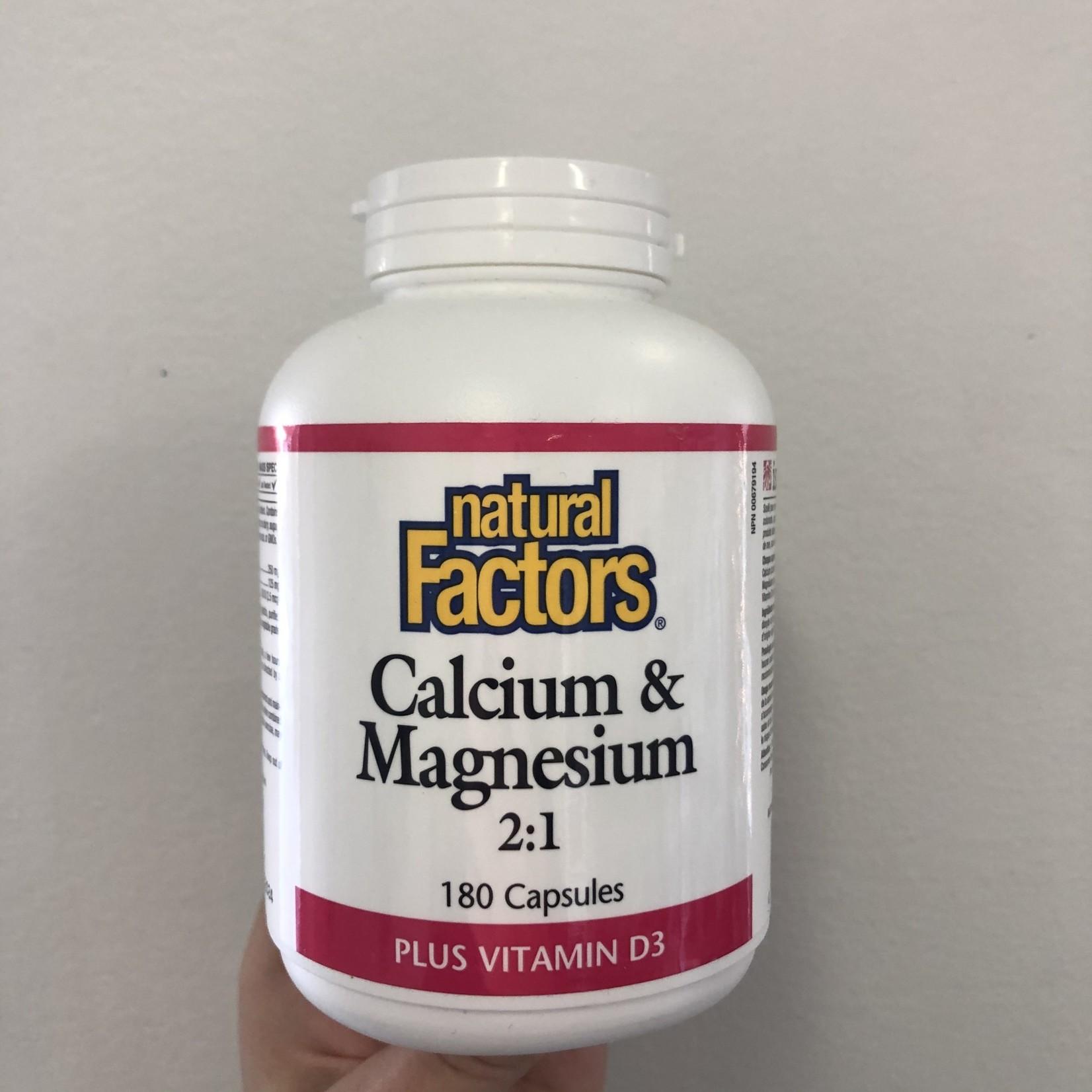 Natural Factors Natural Factors Calcium & Magnesium 2:1 Plus Vitamin D3 180 caps