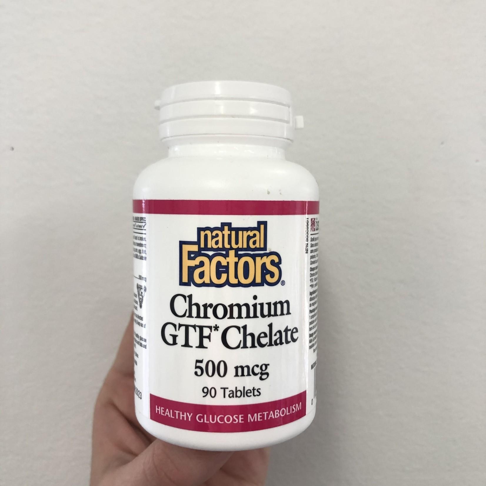 Natural Factors Natural Factors Chromium GTF Chelate 500mcg 90 tabs