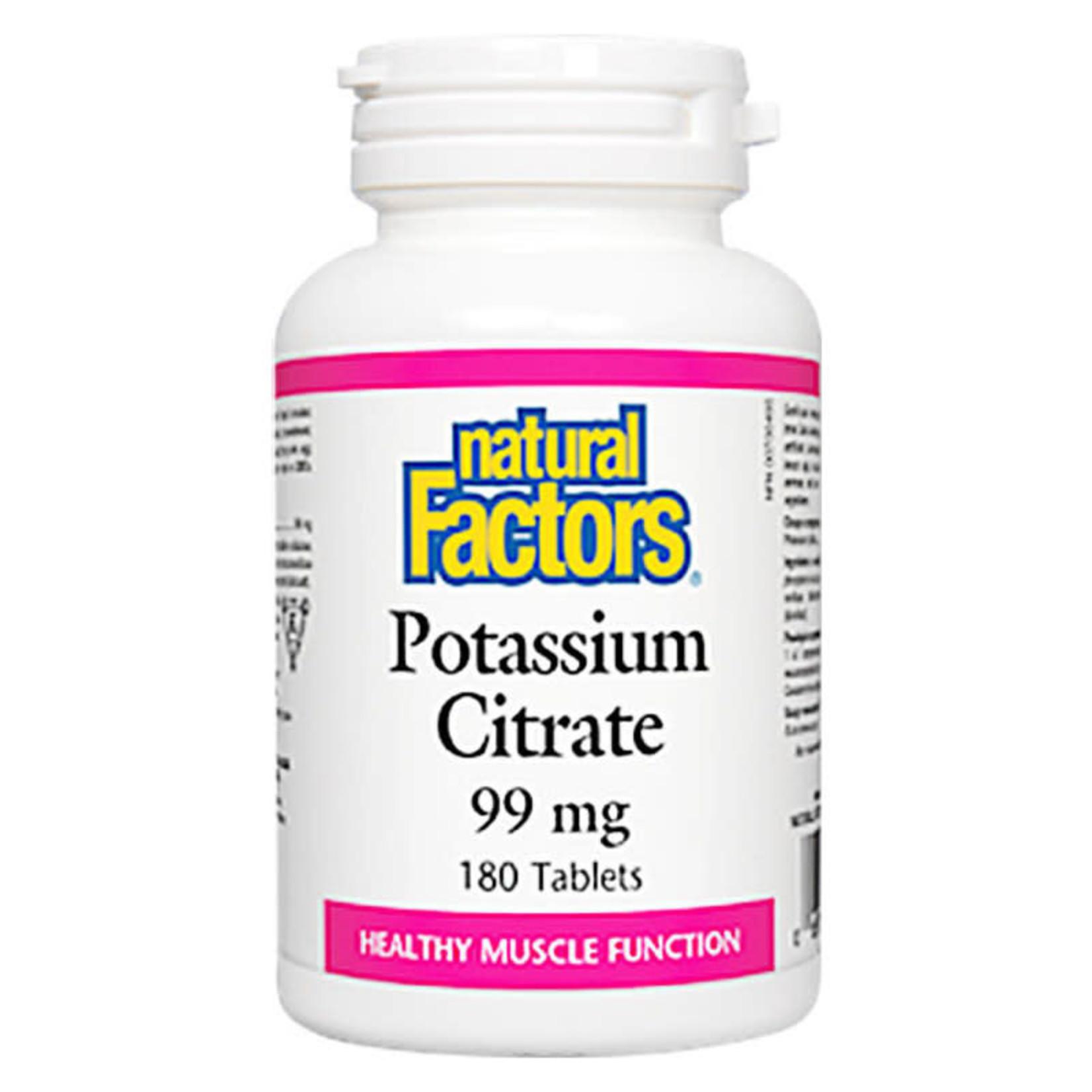 Natural Factors Natural Factors Potassium Citrate 99 mg 180 tabs