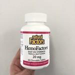 Natural Factors Natural Factors HemoFactors 60 chewable tabs