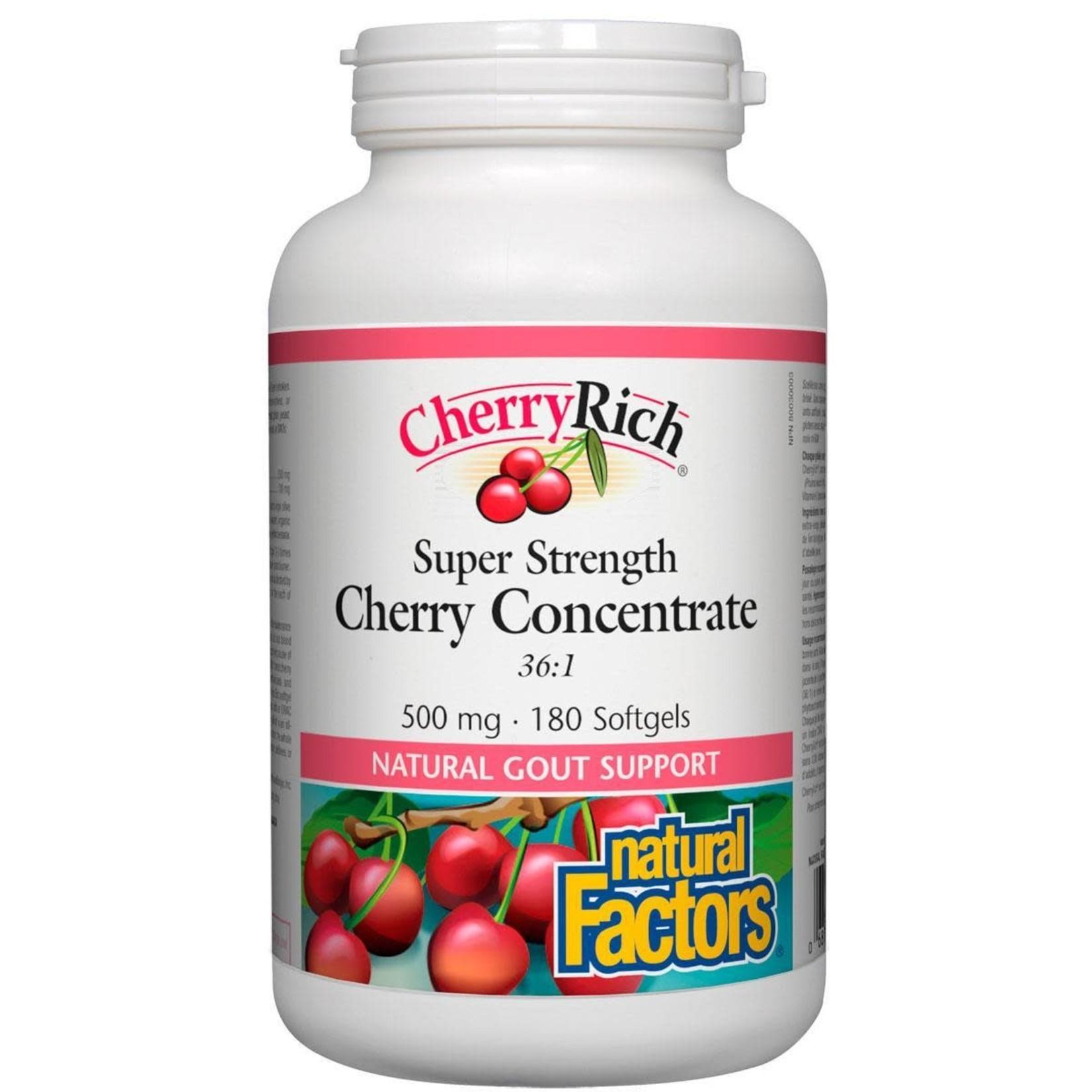 Natural Factors Natural Factors Cherry Concentrate 500mg 180 softgels