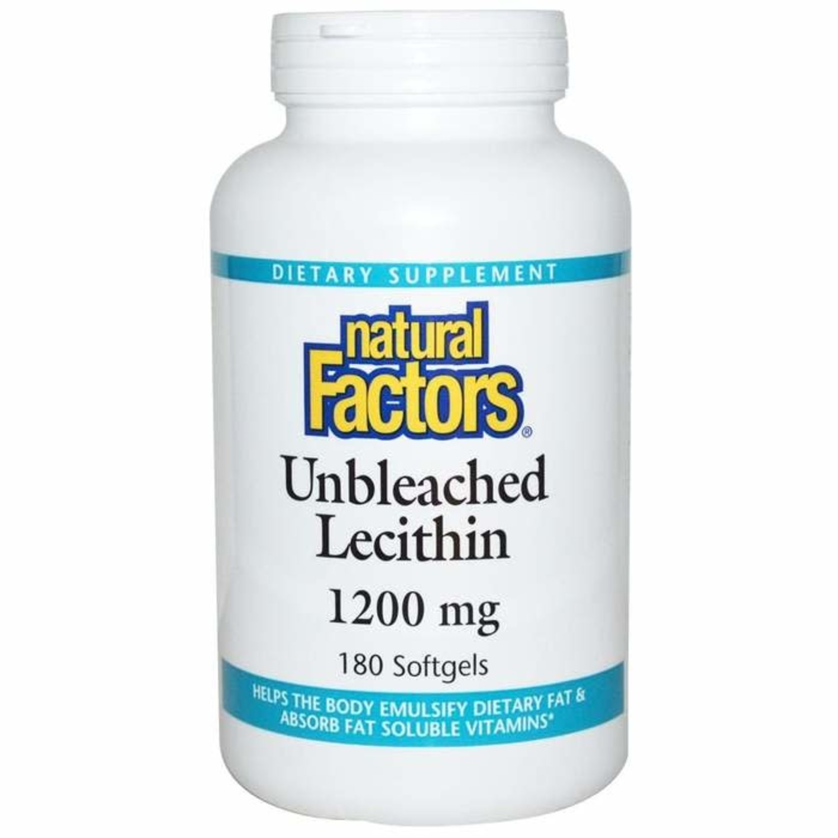 Natural Factors Natural Factors Unbleached Lecithin 180 softgels
