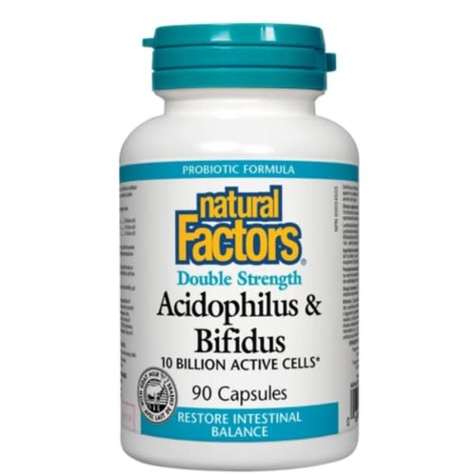 Natural Factors Natural Factors Acidophilus & Bifidus 10 billion 90 caps