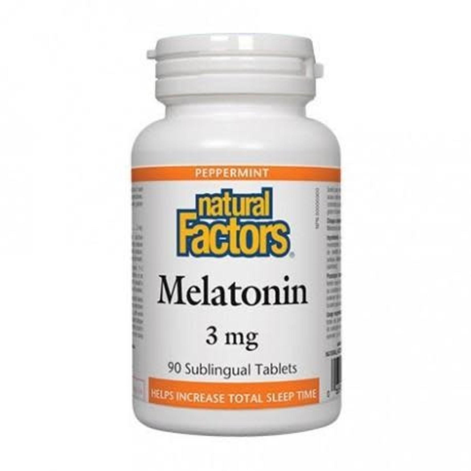 Natural Factors Natural Factors Melatonin 3mg 90 sublingual tabs