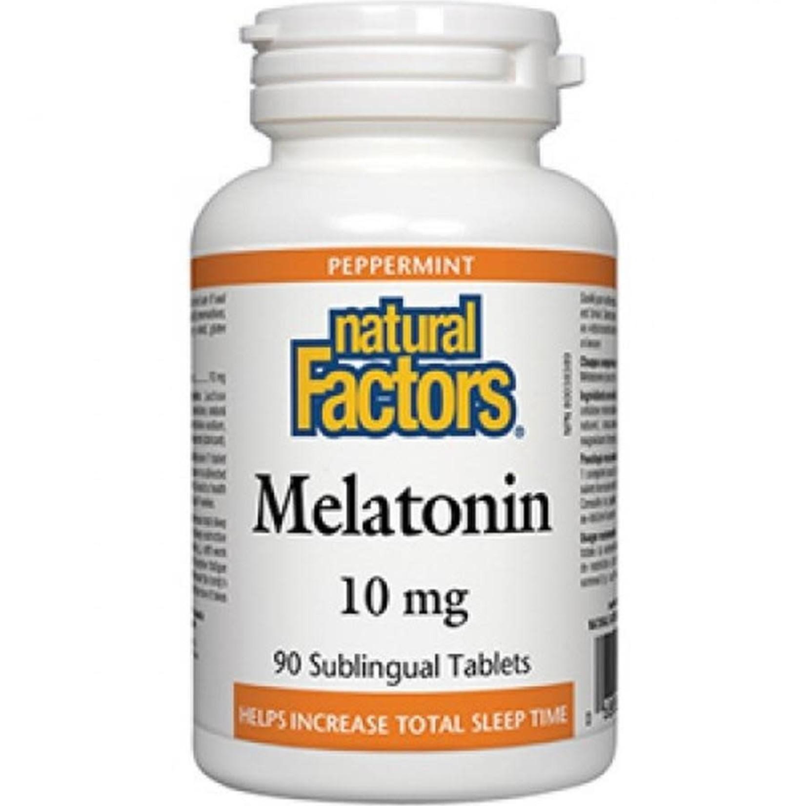 Natural Factors Natural Factors Melatonin 10mg 90 sublingual tabs