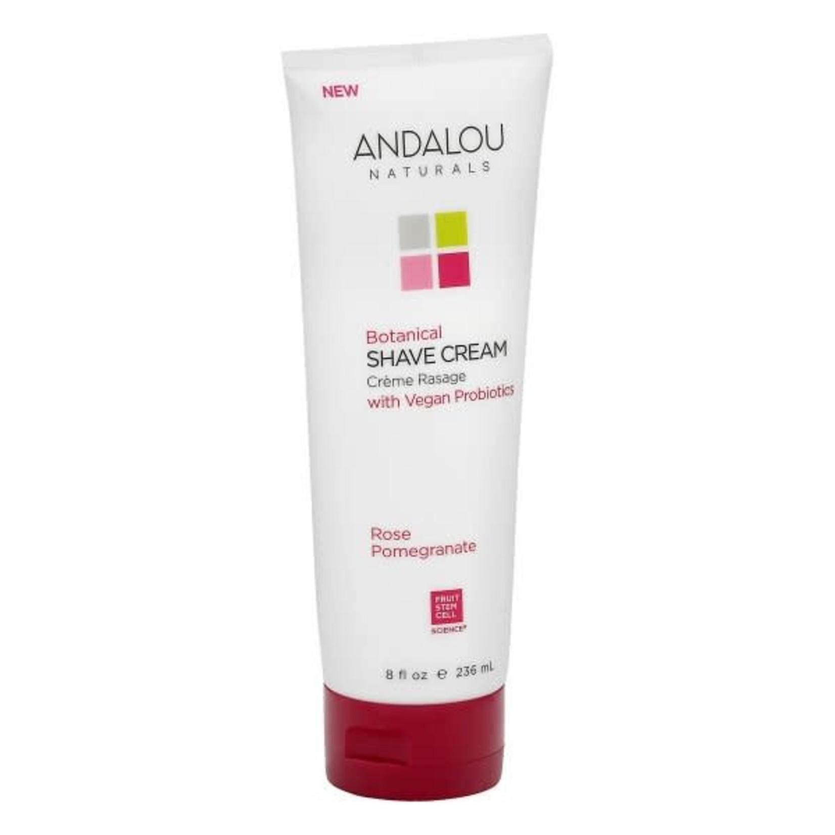Andalou Andalou Botanical Shave Cream Rose Pomegranate 236ml