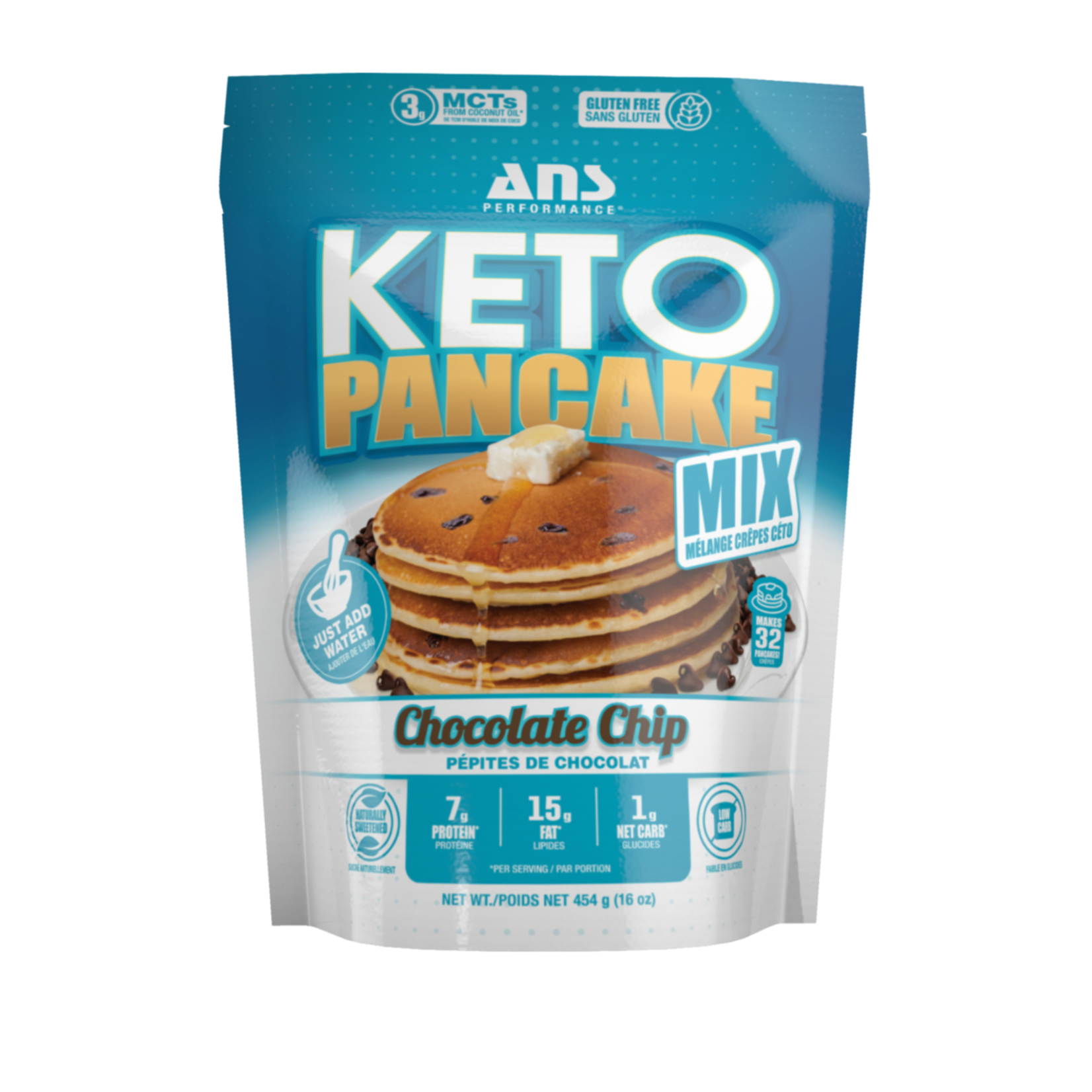 ANS ANS Keto Pancake Mix Chocolate Chip 454g