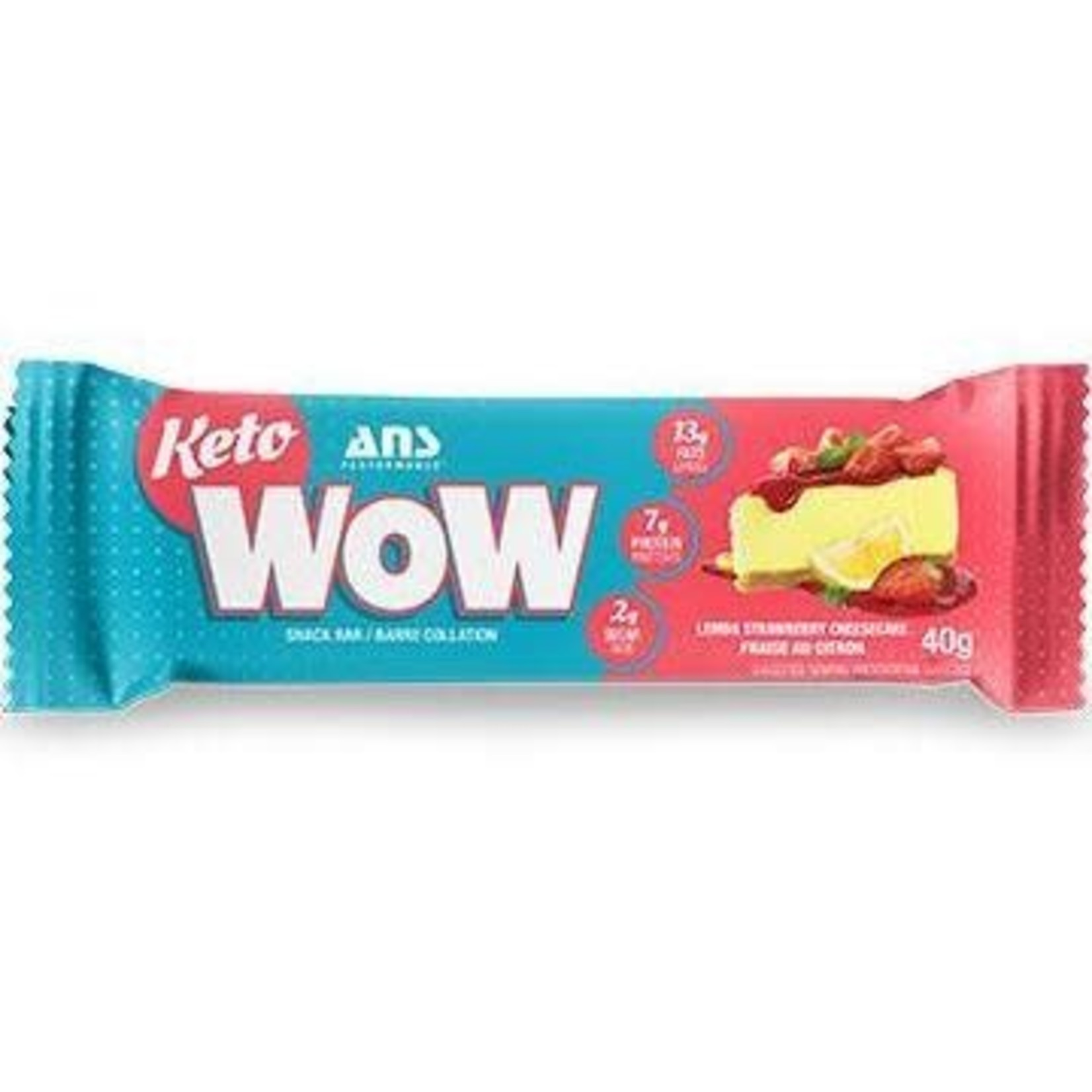 ANS ANS Keto WOW Lemon Strawberry Cheesecake Bar