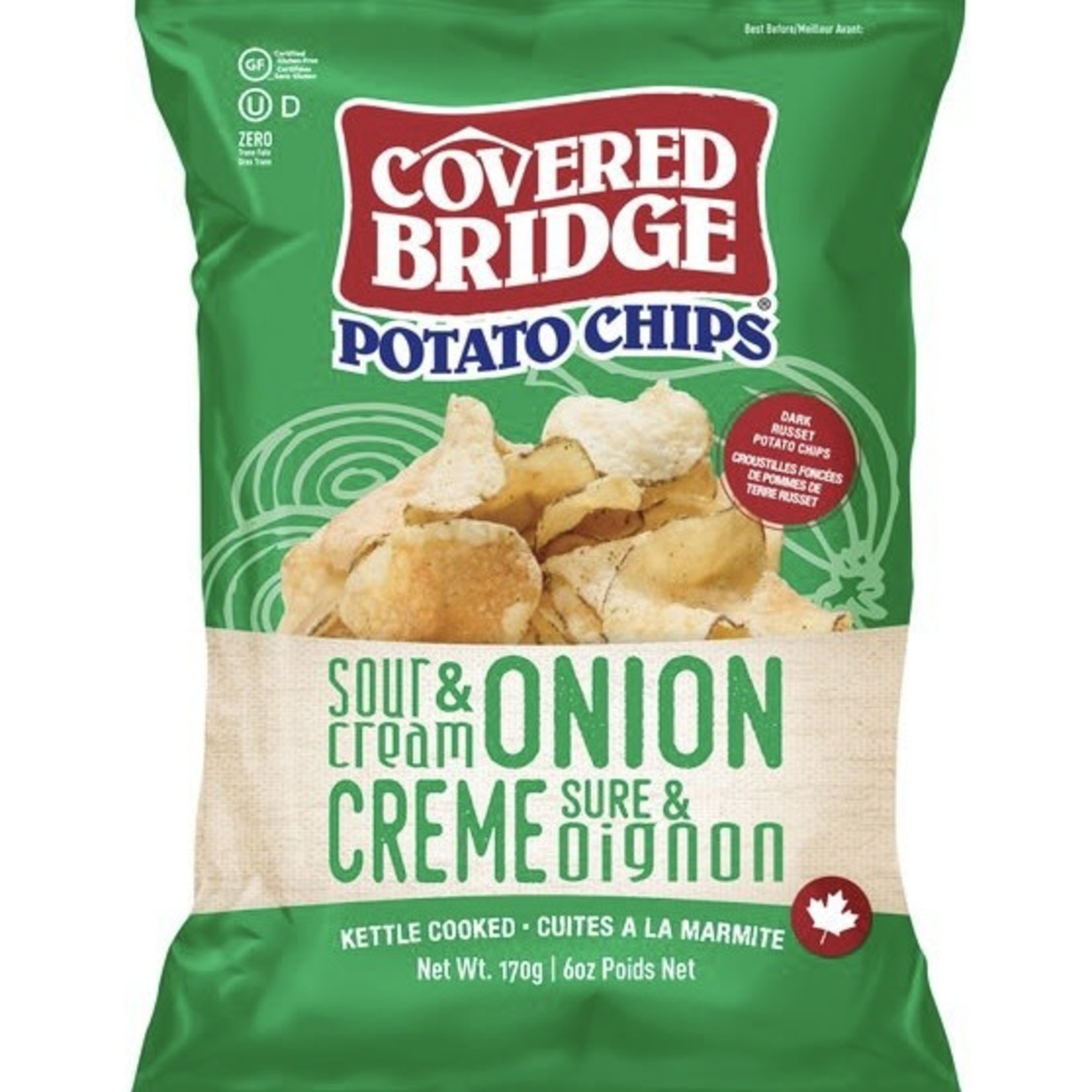 Covered Bridge Covered Bridge Sour Cream & Onion Potato Chips