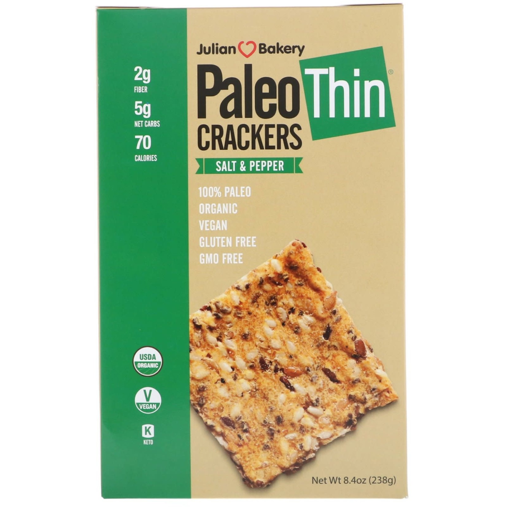 Julian Bakery Julian Bakery PaleoThin Crackers Salt & Pepper
