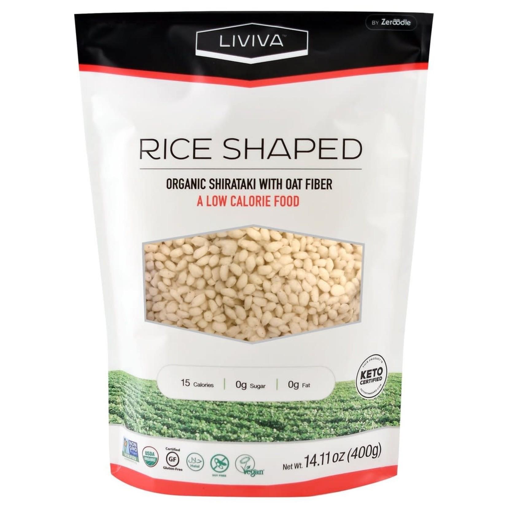Liviva Liviva Shirataki Rice Shaped with Oat Fiber