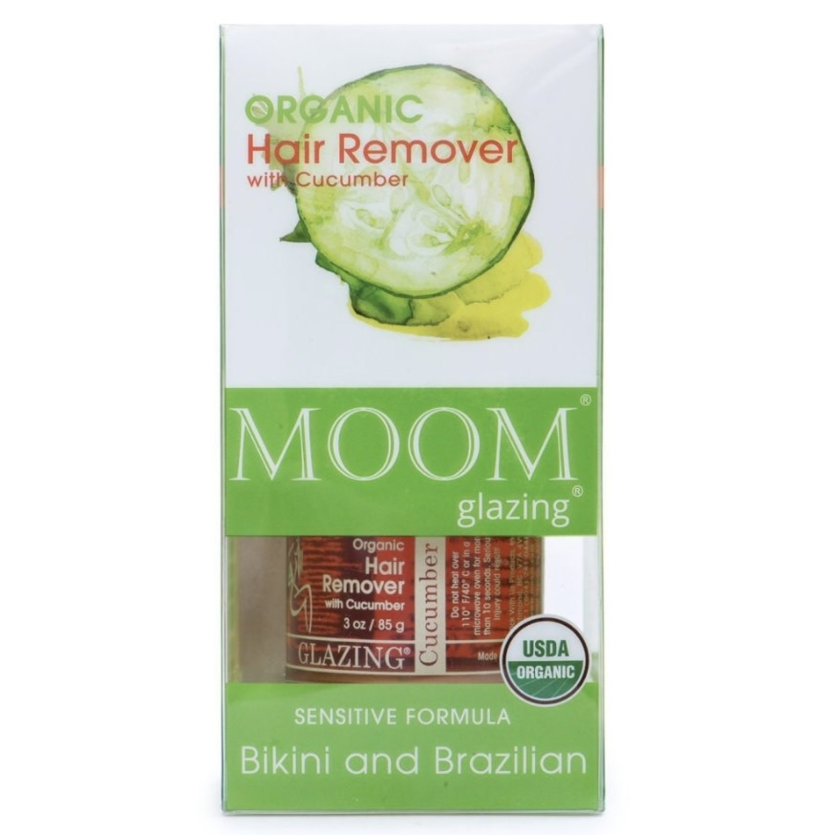 Moom Moom Bikini and Brazilian Hair Remover with Cucumber