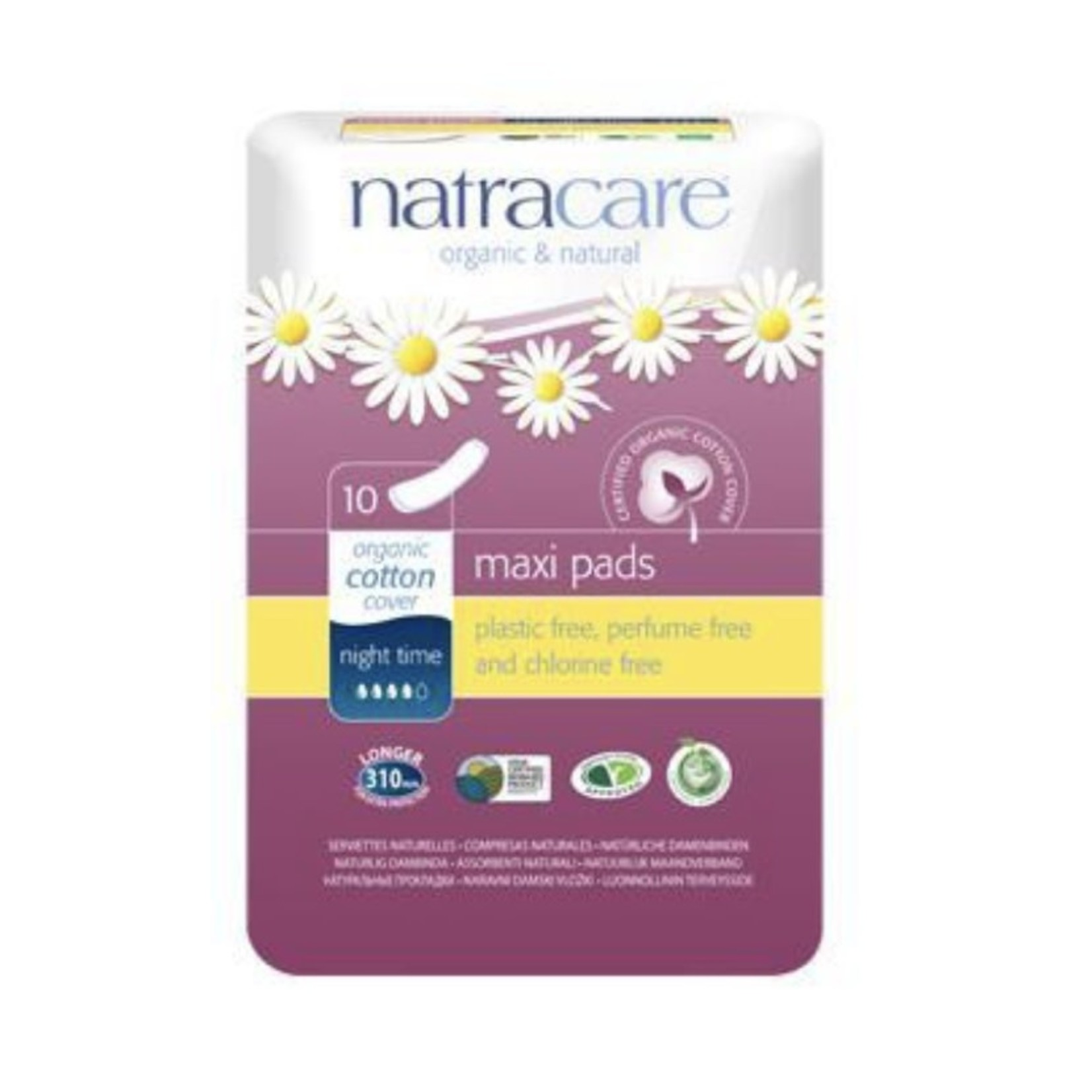 Natracare Natracare Night Time Maxi Pads 10ct