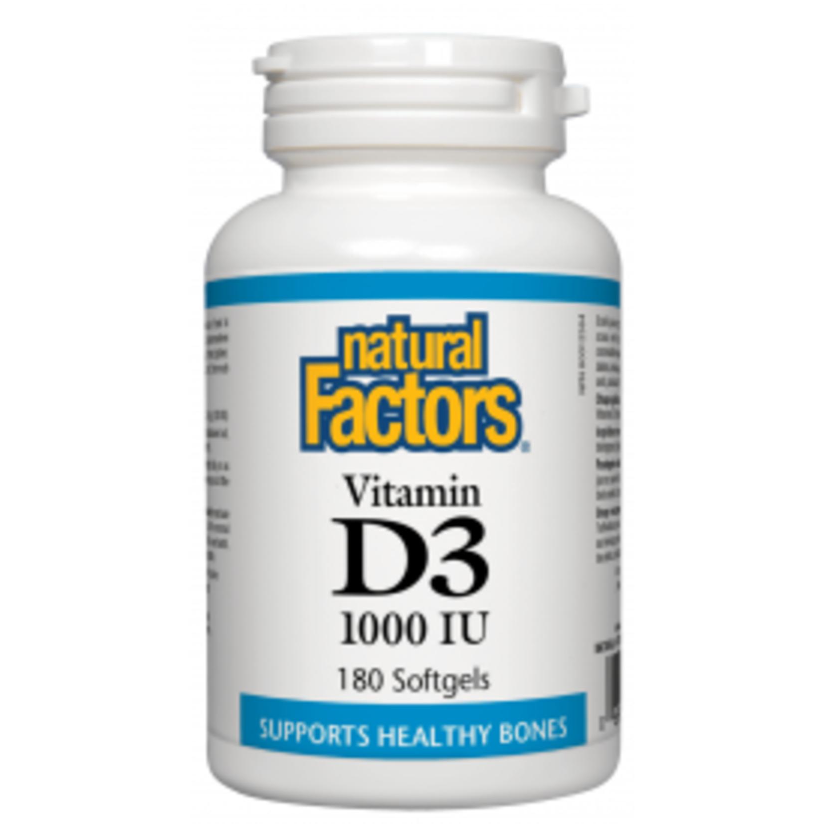 Natural Factors Natural Factors Vitamin D3 1000 IU 180 softgels
