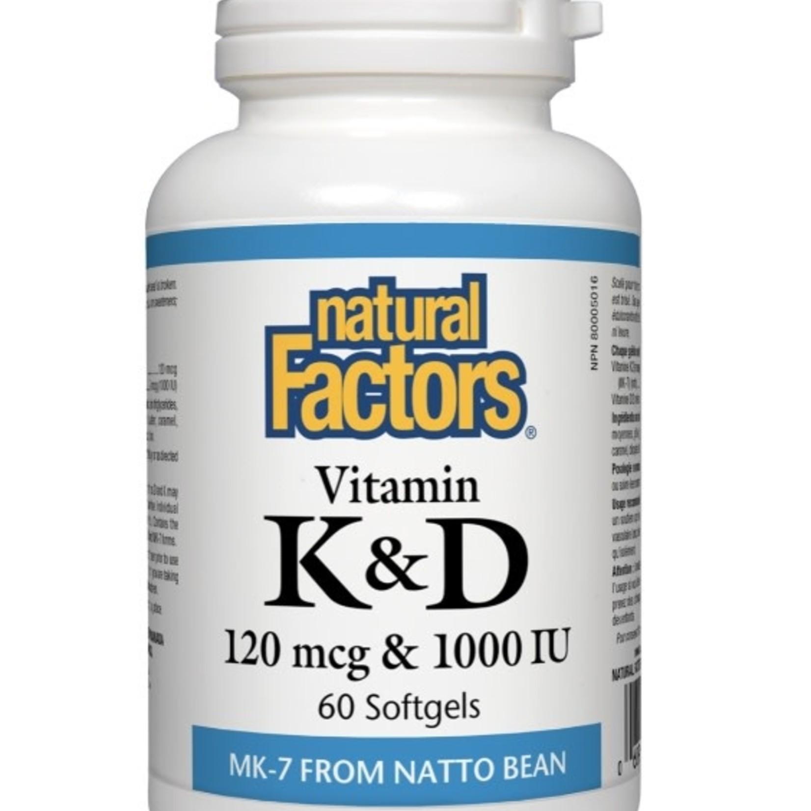 Natural Factors Natural Factors Vitamin K2 & D3 60 softgels