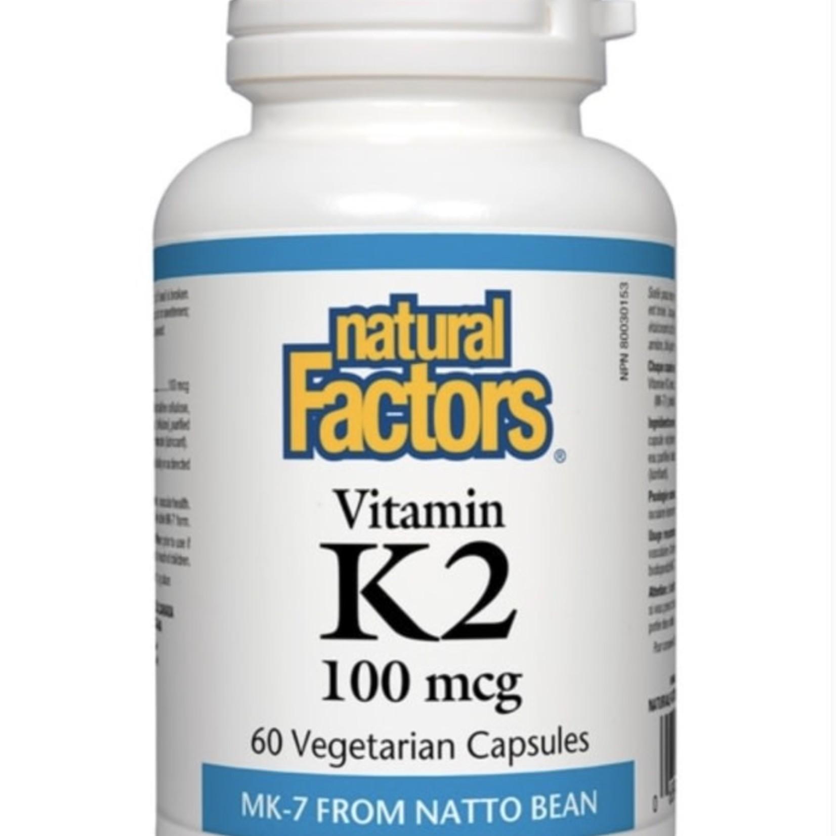 Natural Factors Natural Factors Vitamin K2 100mcg 60 caps