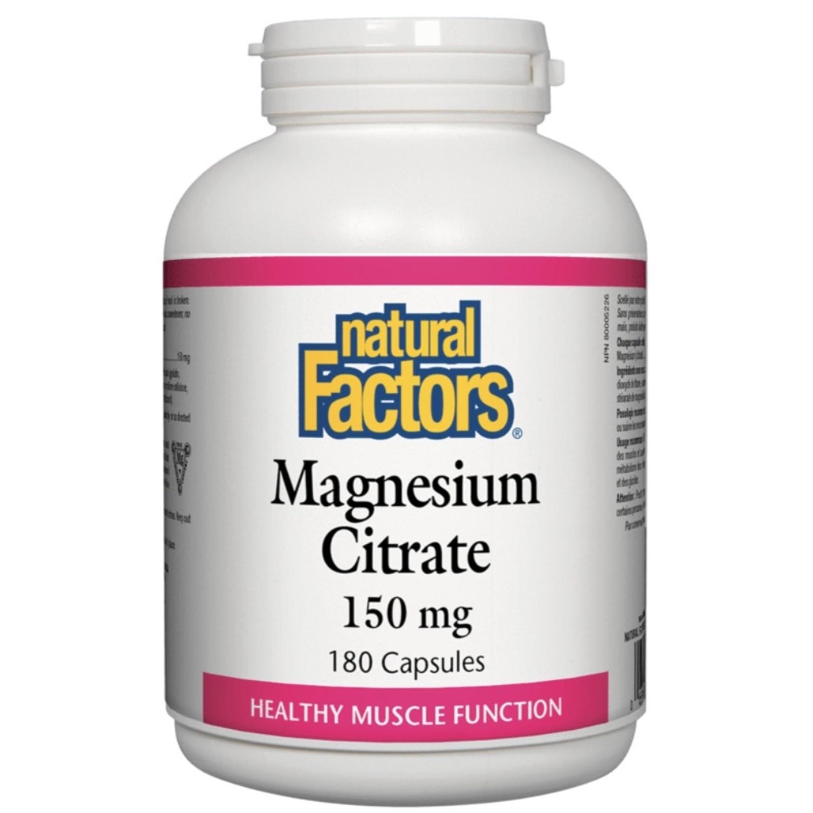 Natural Factors Natural Factors Magnesium Citrate 150mg 180 caps