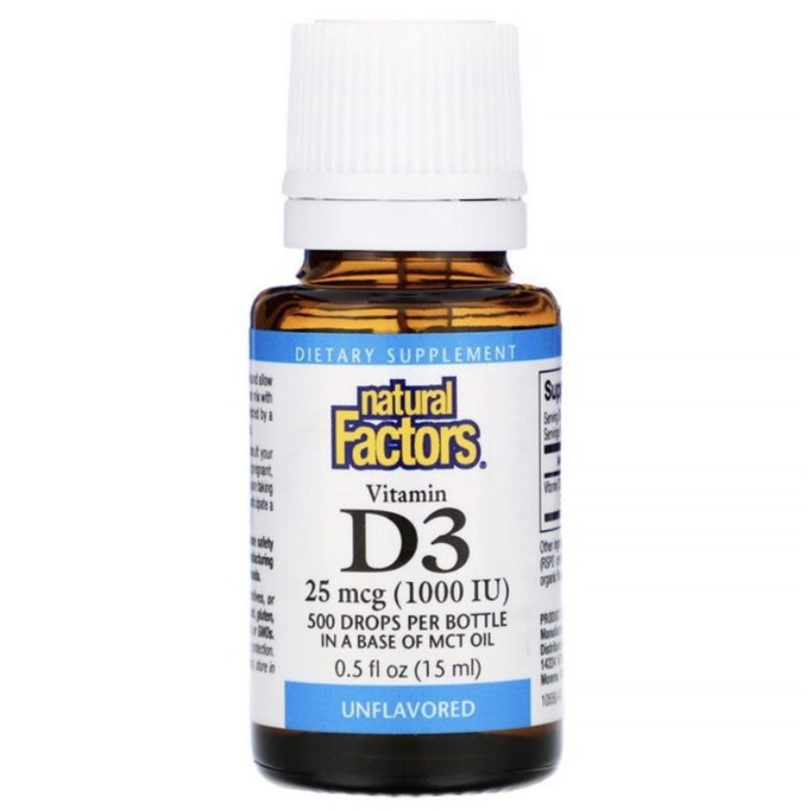 Natural Factors Natural Factors Vitamin D3 1000IU 15ml