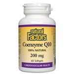 Natural Factors Natural Factors Coenzyme Q10 200mg 60 softgels