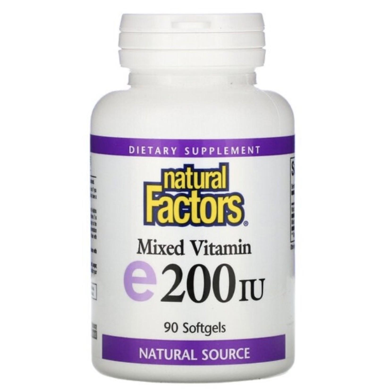 Natural Factors Natural Factors Vitamin e200 IU 90 softgels