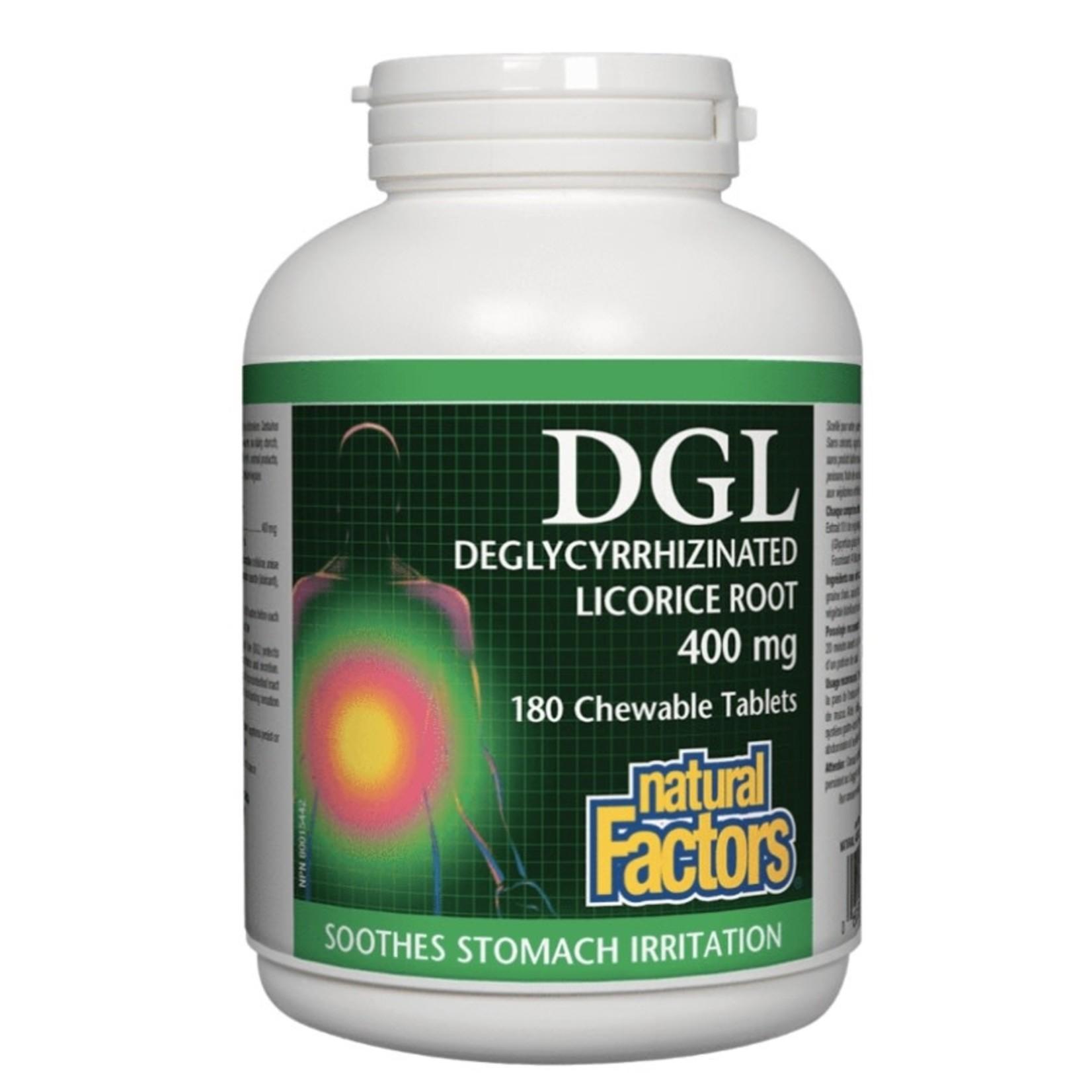 Natural Factors Natural Factors DGL 400mg 180 tabs
