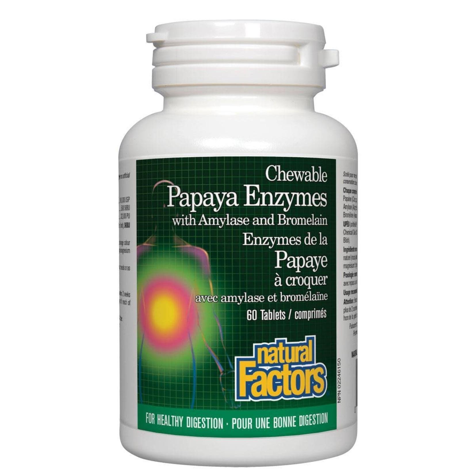 Natural Factors Natural Factors Papaya Enzymes 60 tabs