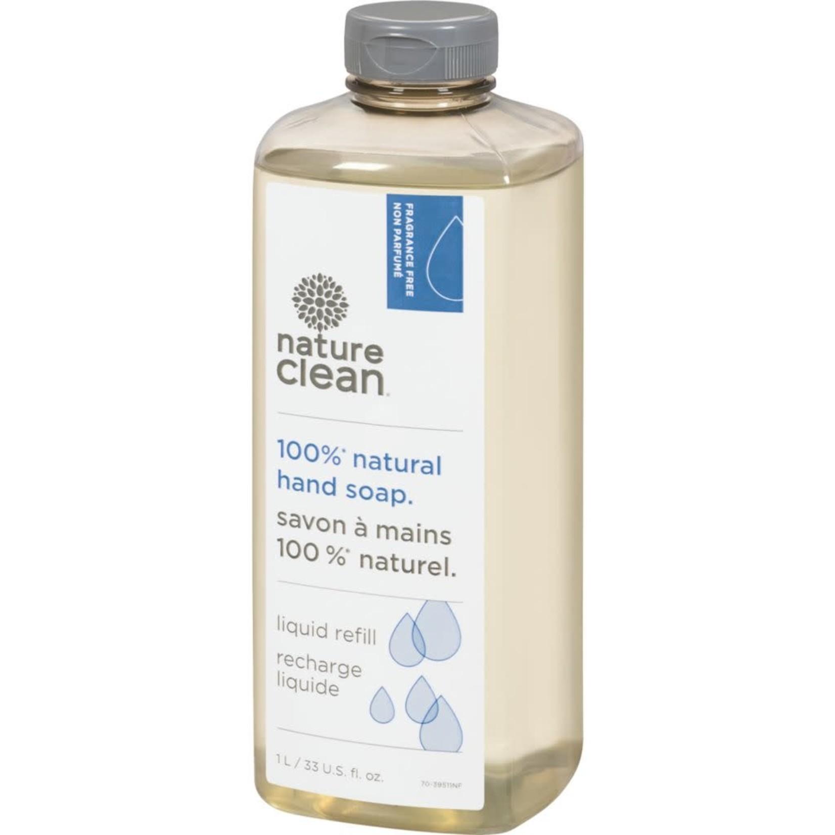 Nature Clean Nature Clean Fragrance Free Hand Soap Liquid Refill 1L