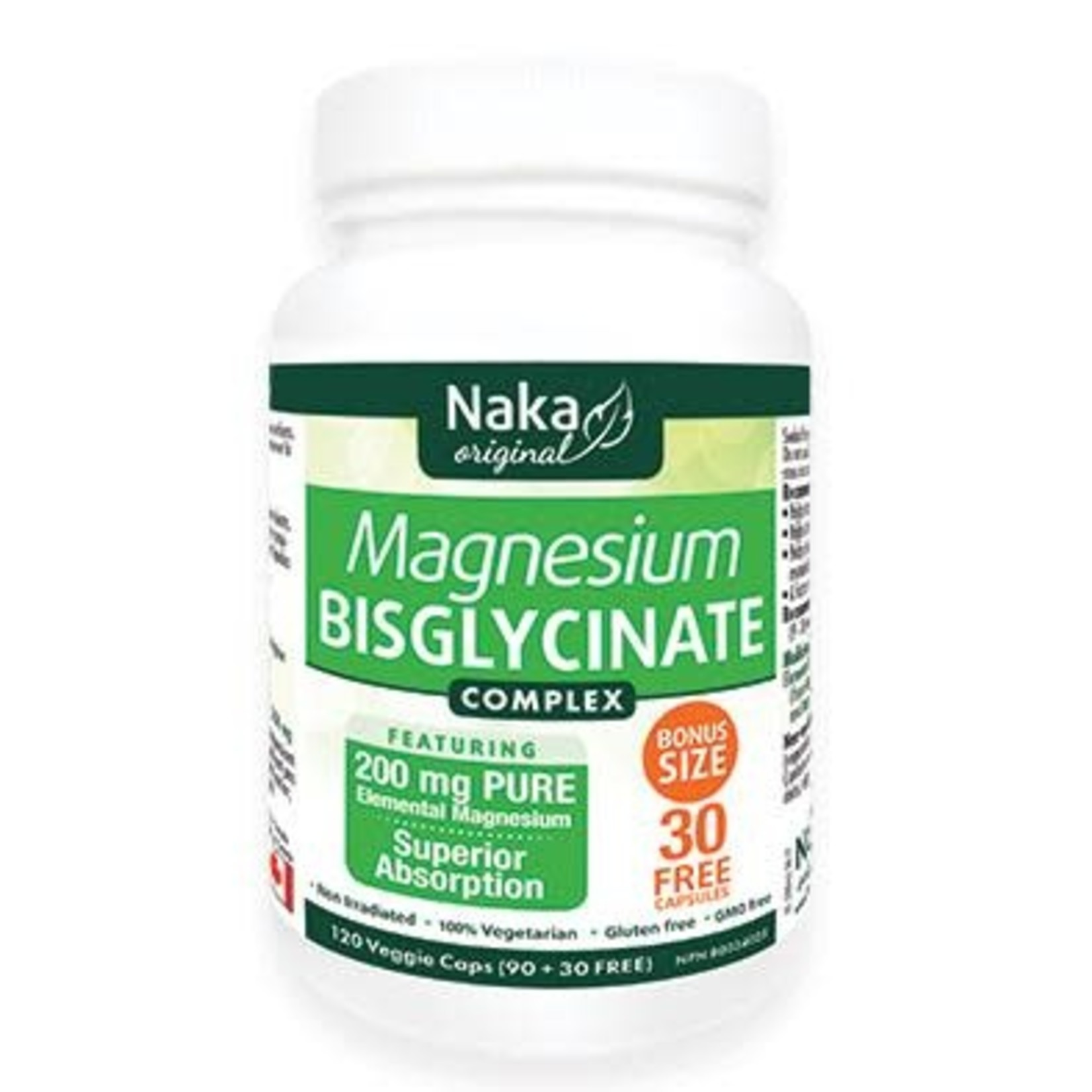 Naka Naka Magnesium Bisglycinate 120 caps