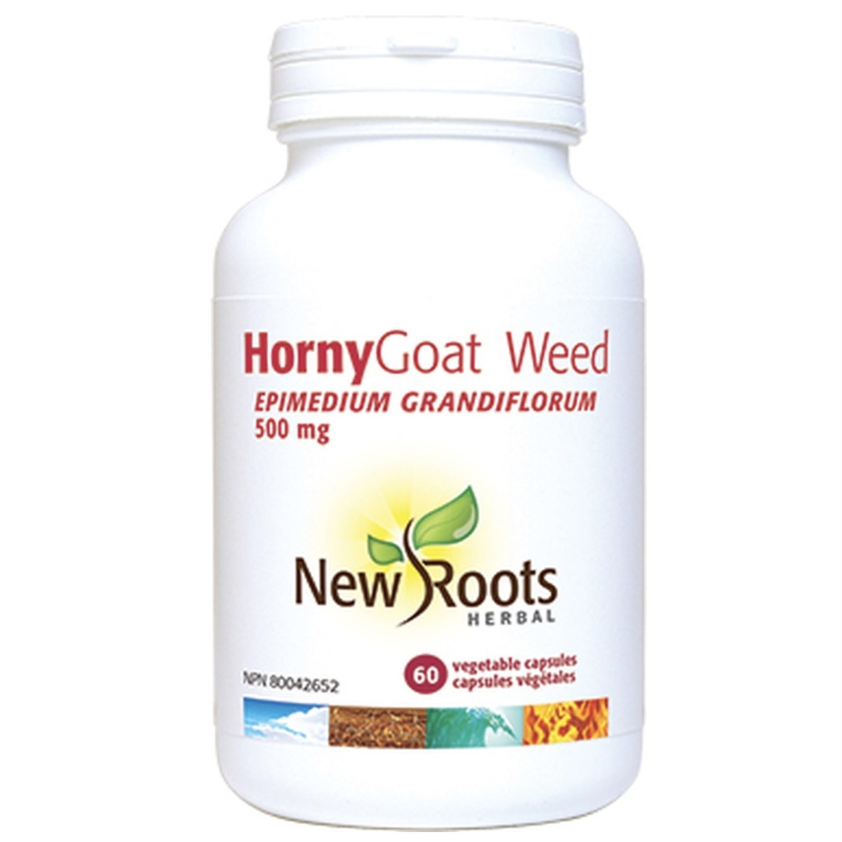 New Roots New Roots Horny Goat Weed 60 500 mg 60 caps