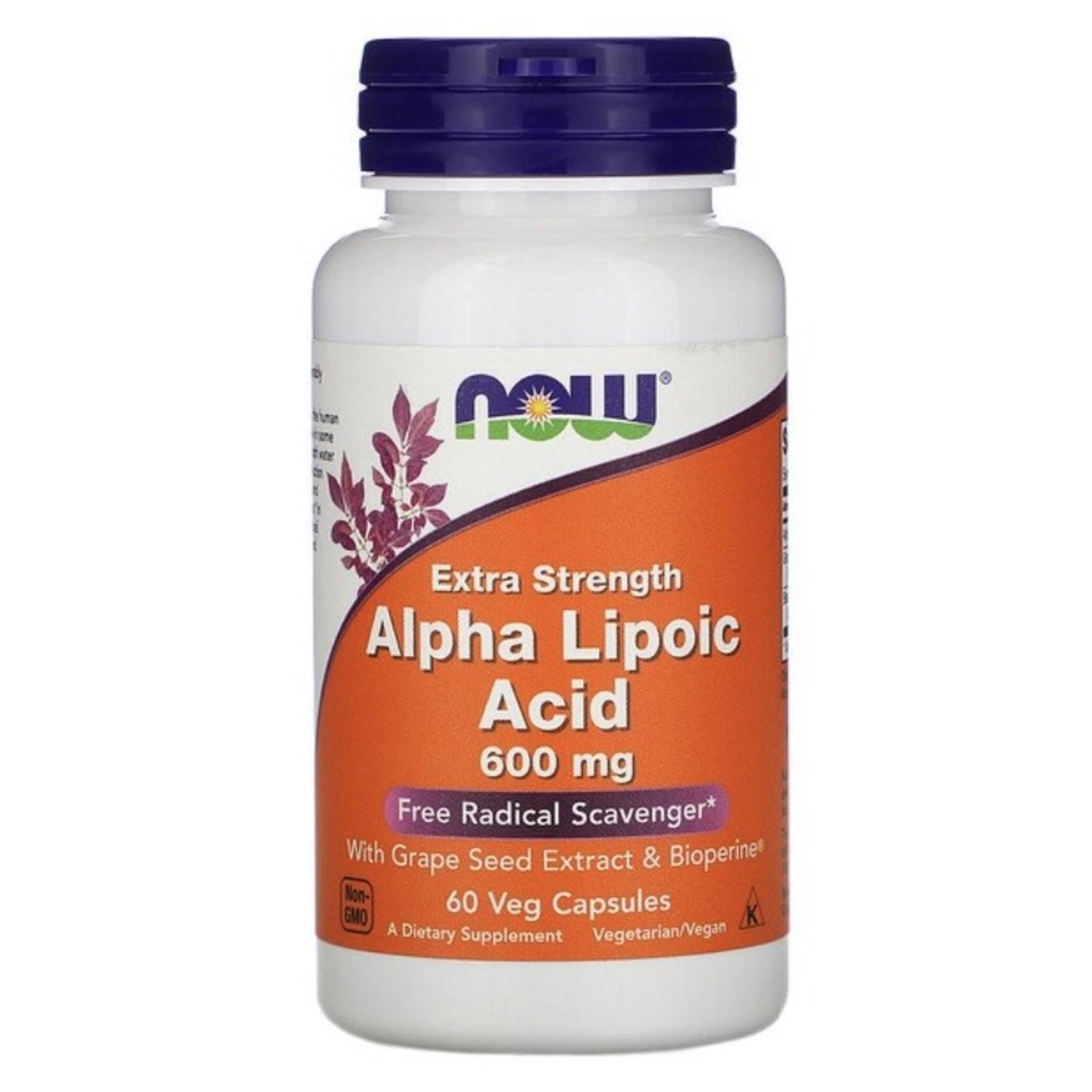 Now Now Alpha Lipoic Acid 600mg 60 caps