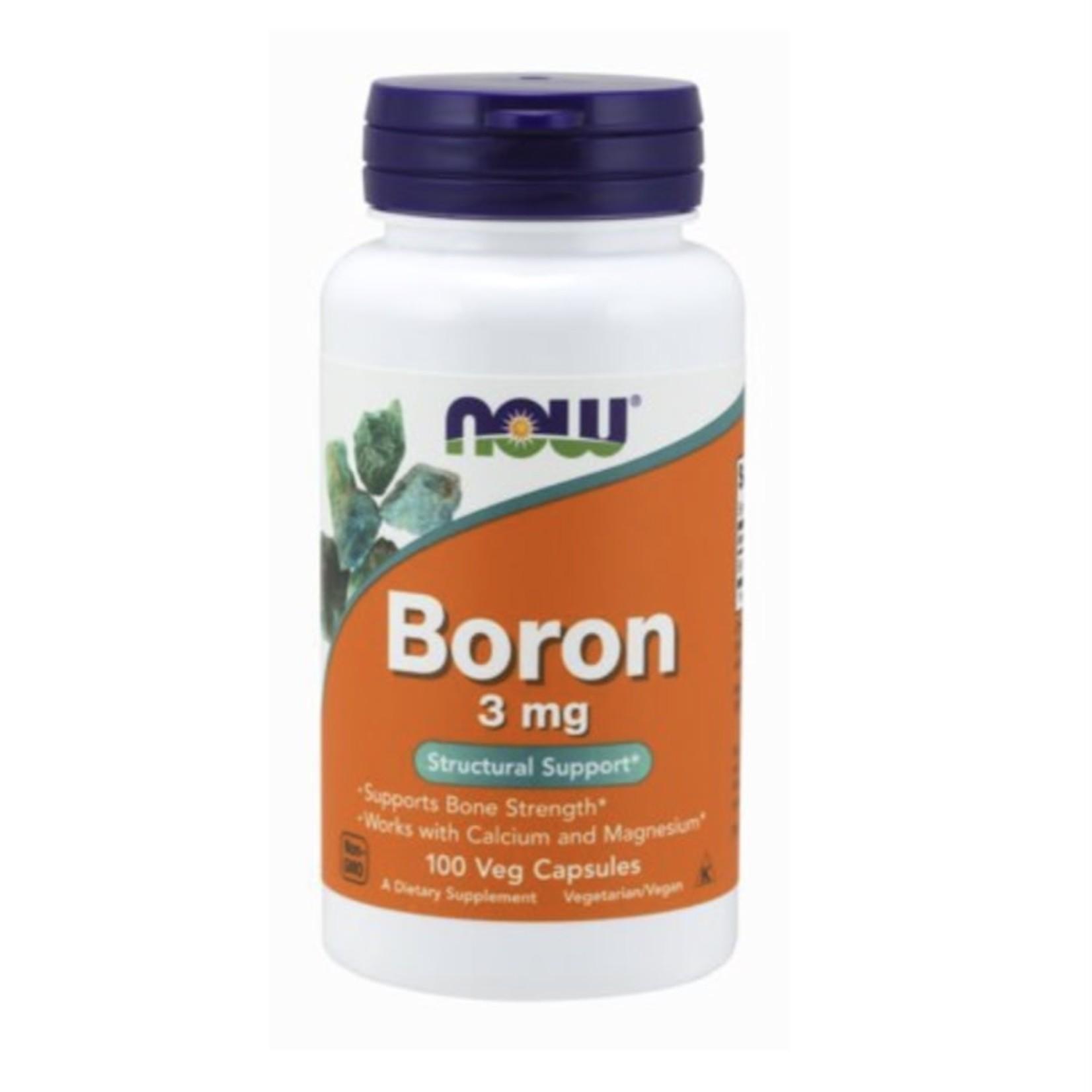Now Now Boron 3mg 100 caps