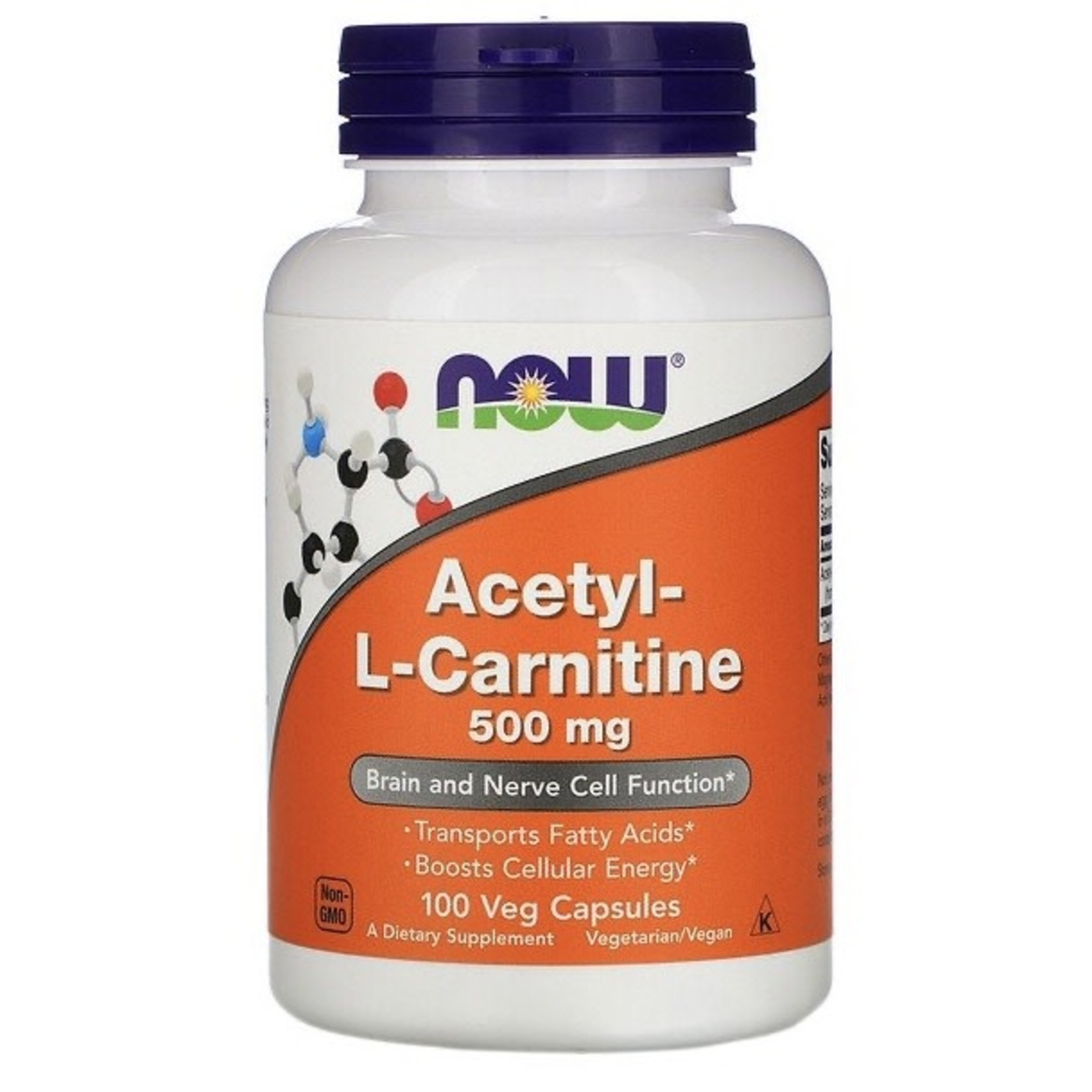 Now Now Acetyl-L-Carnitine 500mg 100 caps