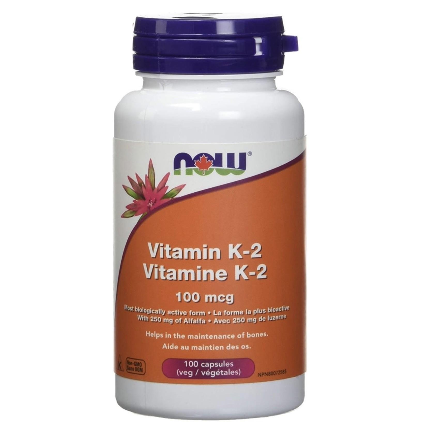 Now Now Vitamin K2 100mcg 100 capsules