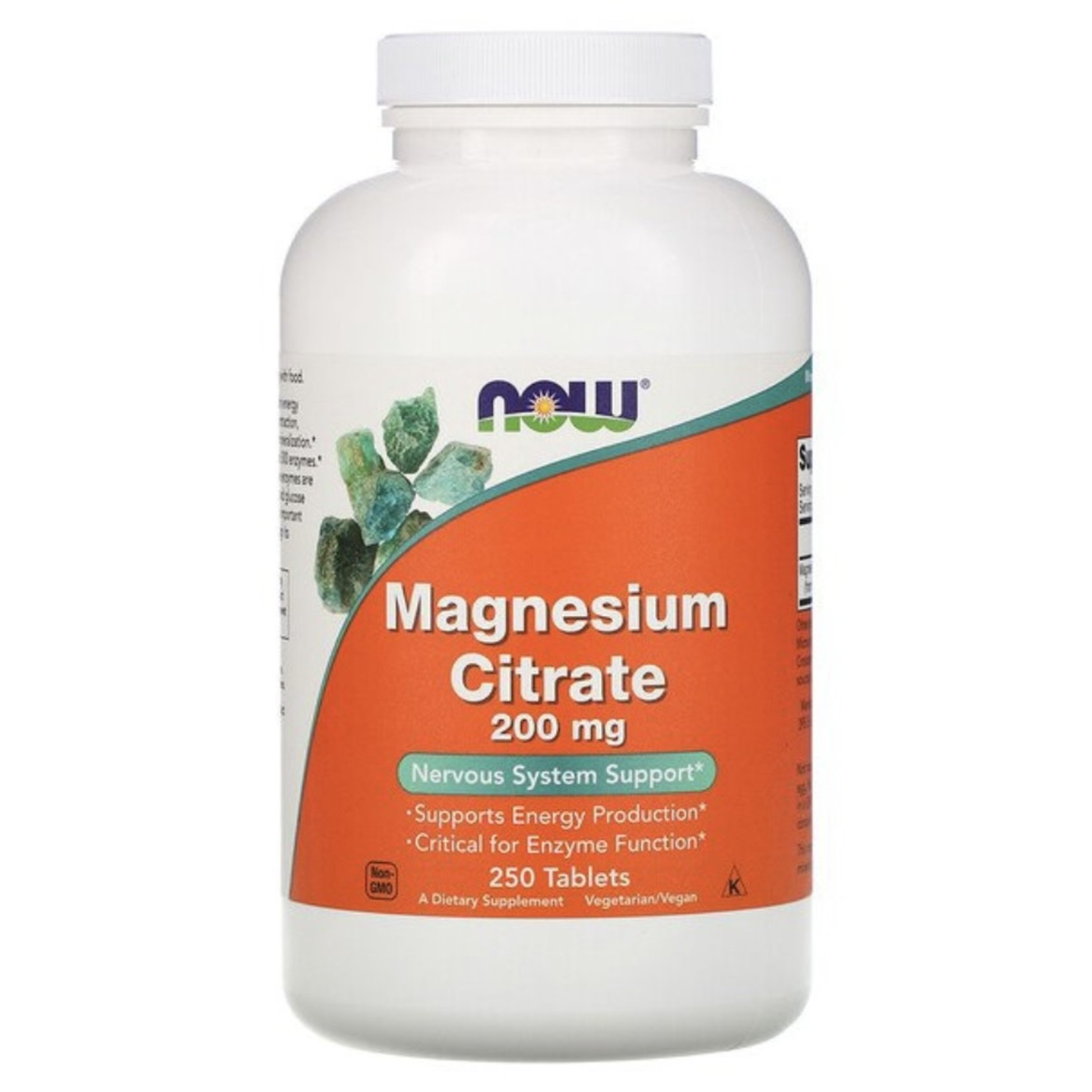 Now Now Magnesium Citrate 200mg 250 tabs