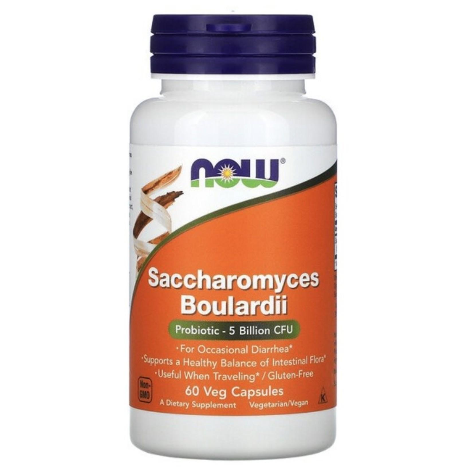 Now Now Saccharomyces Boulardii 5 Billion 60 caps