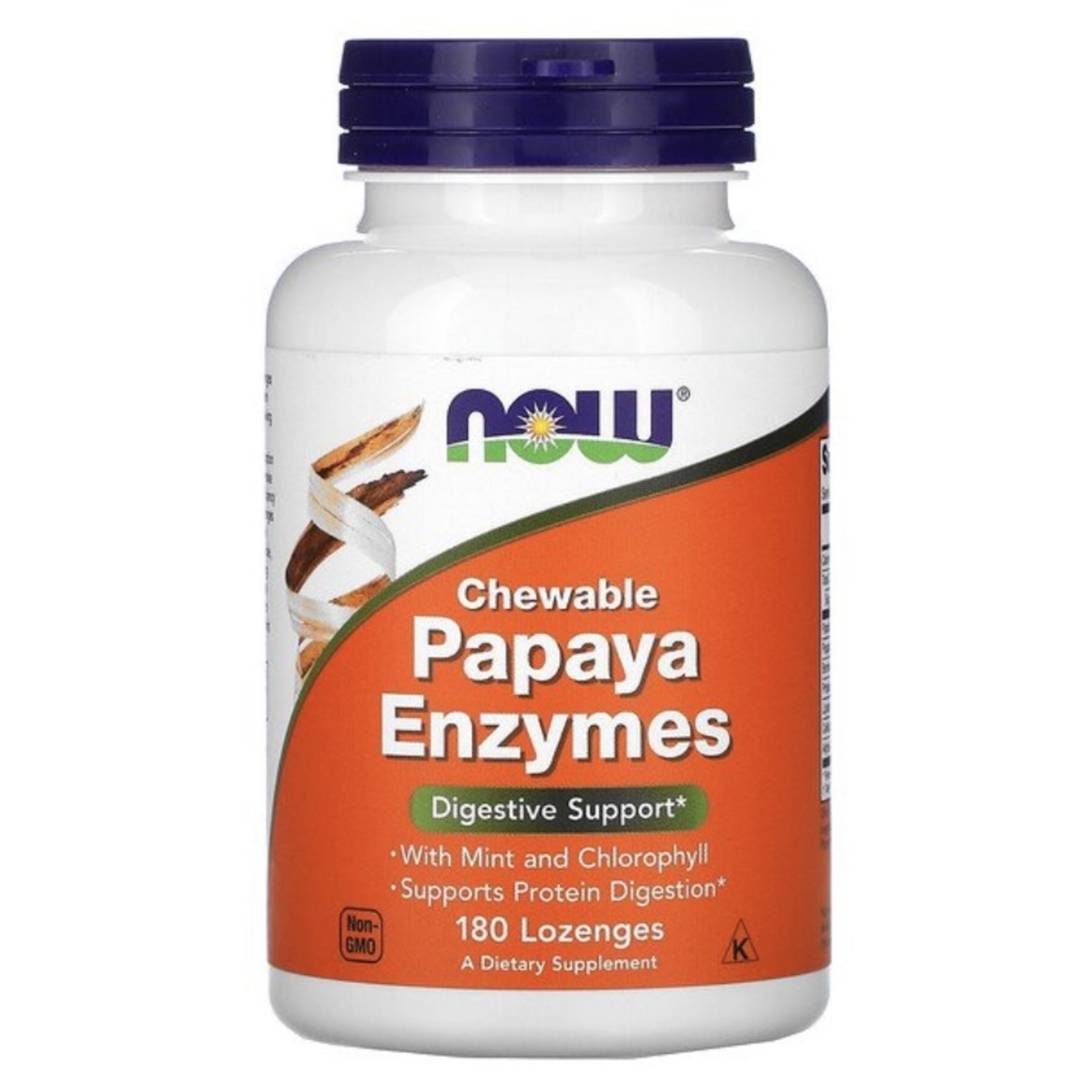 Now Now Papaya Chewable Enzymes 180 lozenges