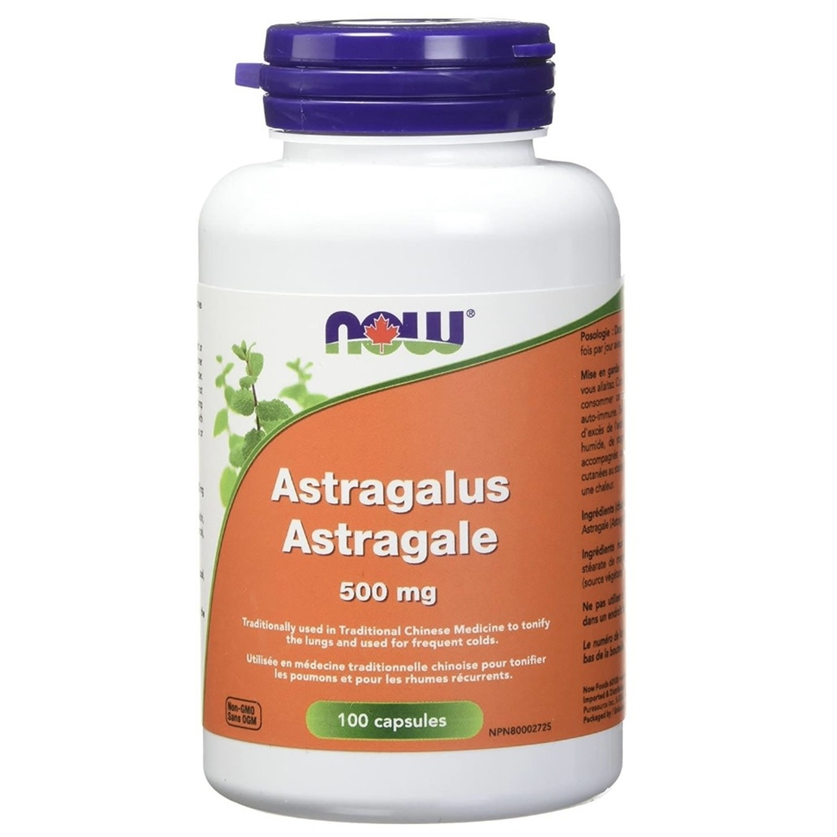 Now Now Astragalus 500mg 100 caps