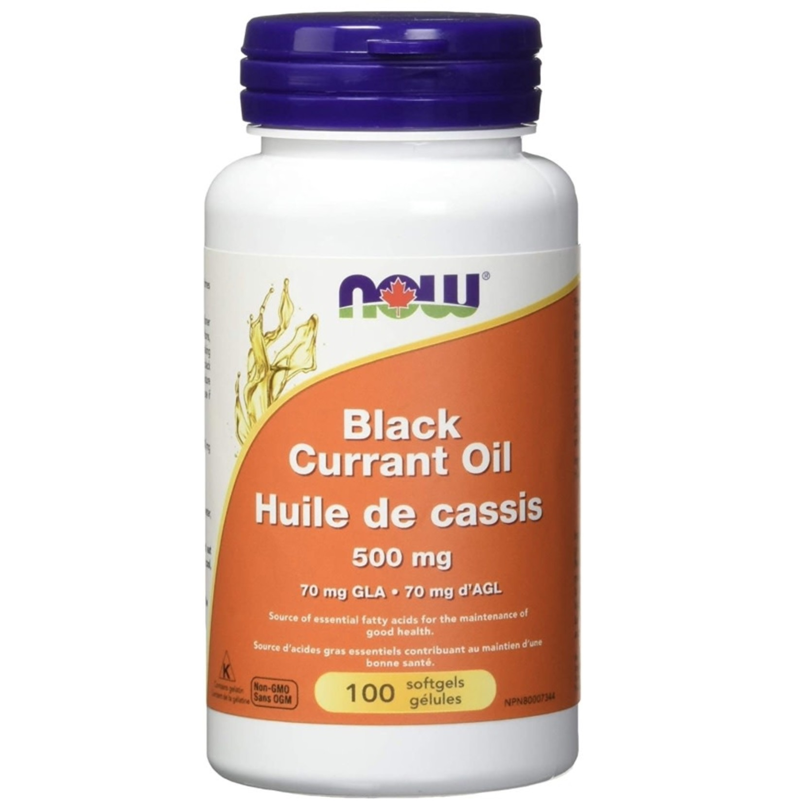 Now Now Black Currant Oil 500mg 100 softgels