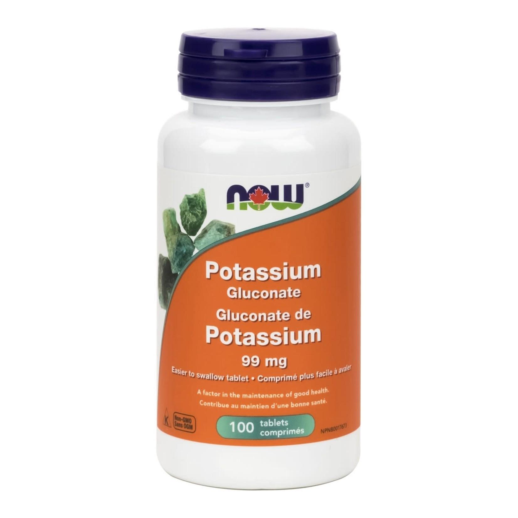 Now Now Potassium Gluconate 99mg 100 tabs