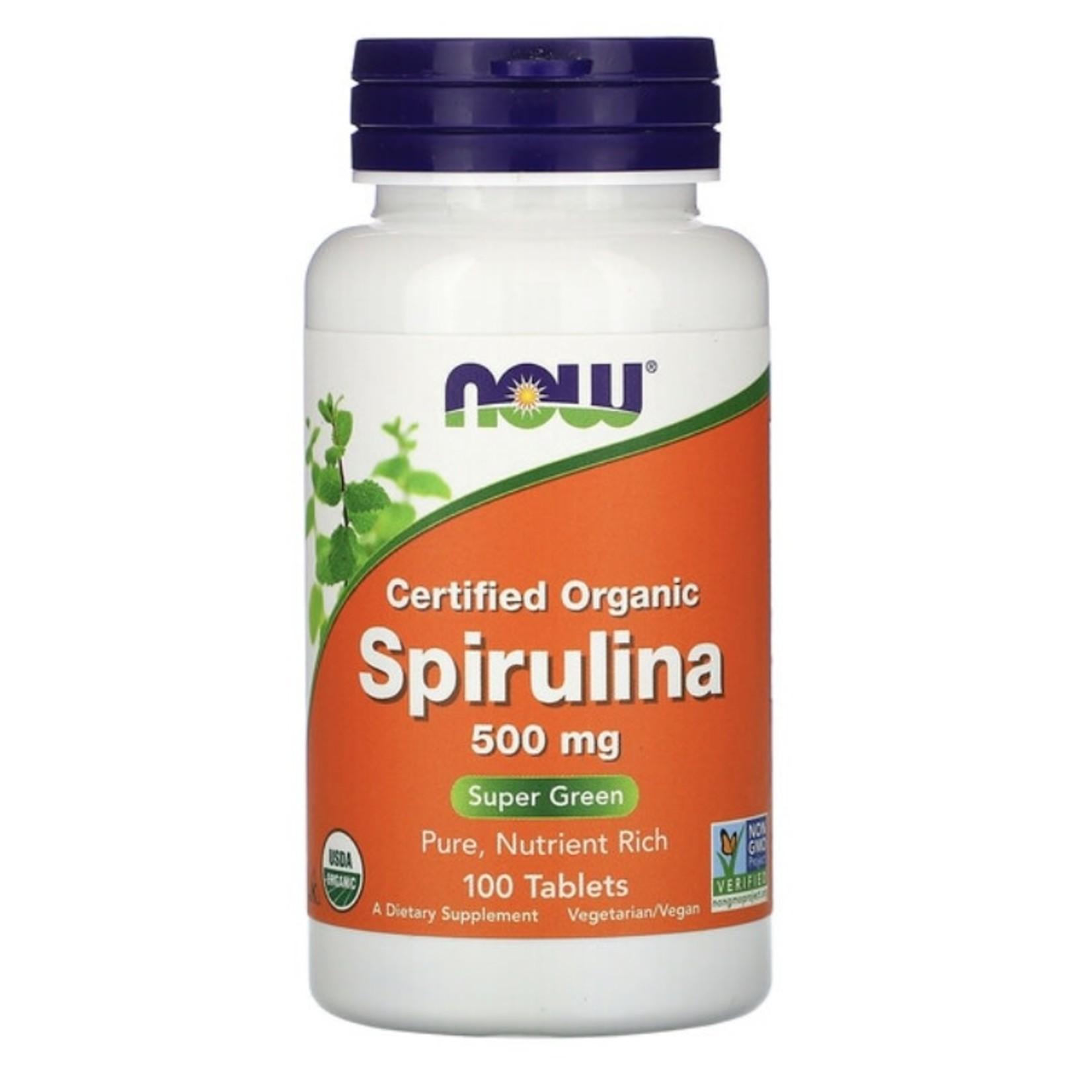 Now Now Spirulina 500mg 100 tabs