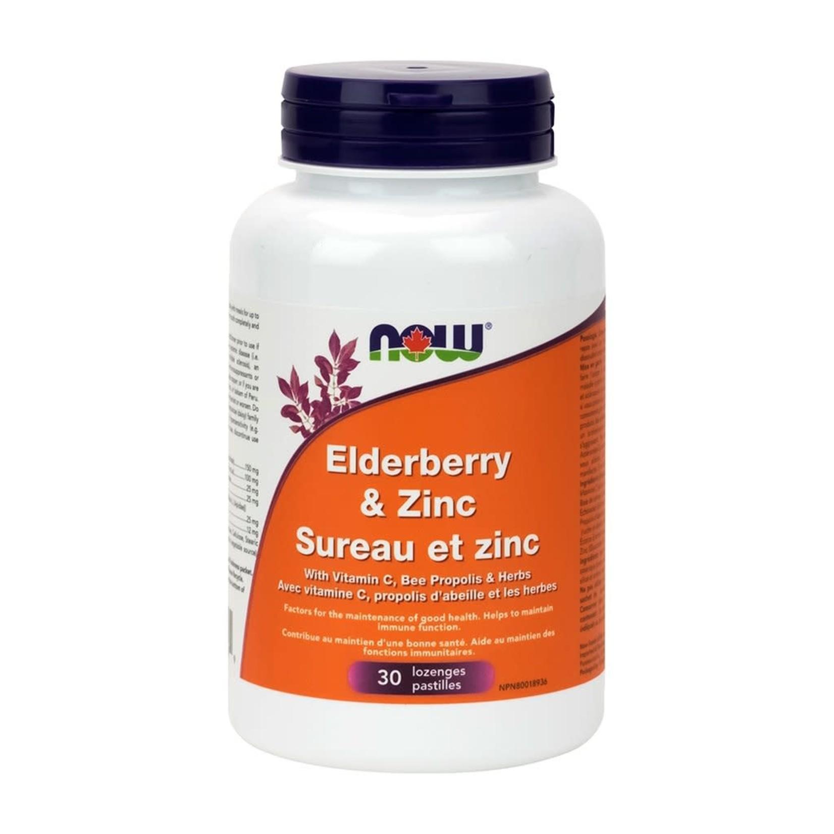 Now Now Elderberry & Zinc 30 lozenges