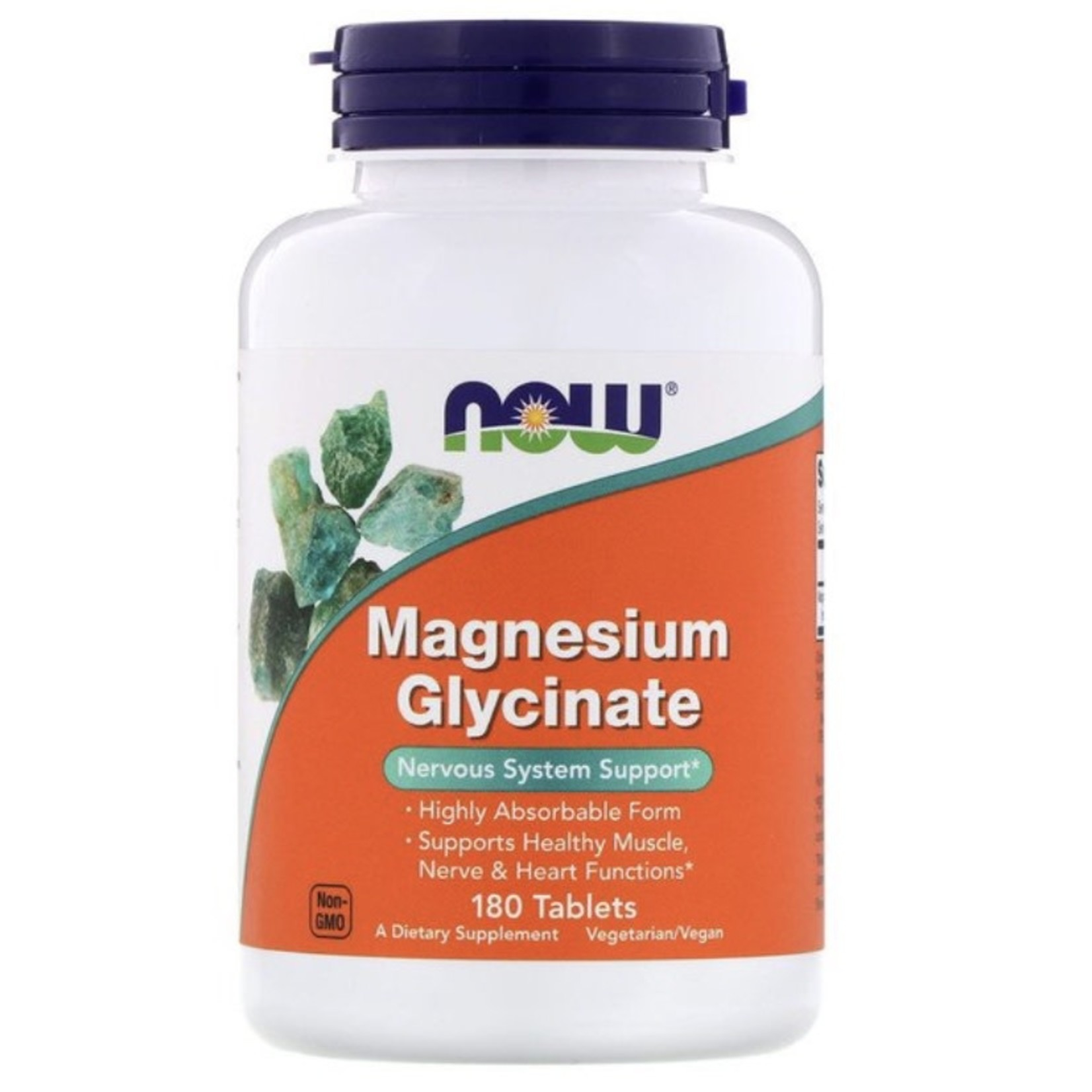 Now Now Magnesium Bisglycinate 180 tablets