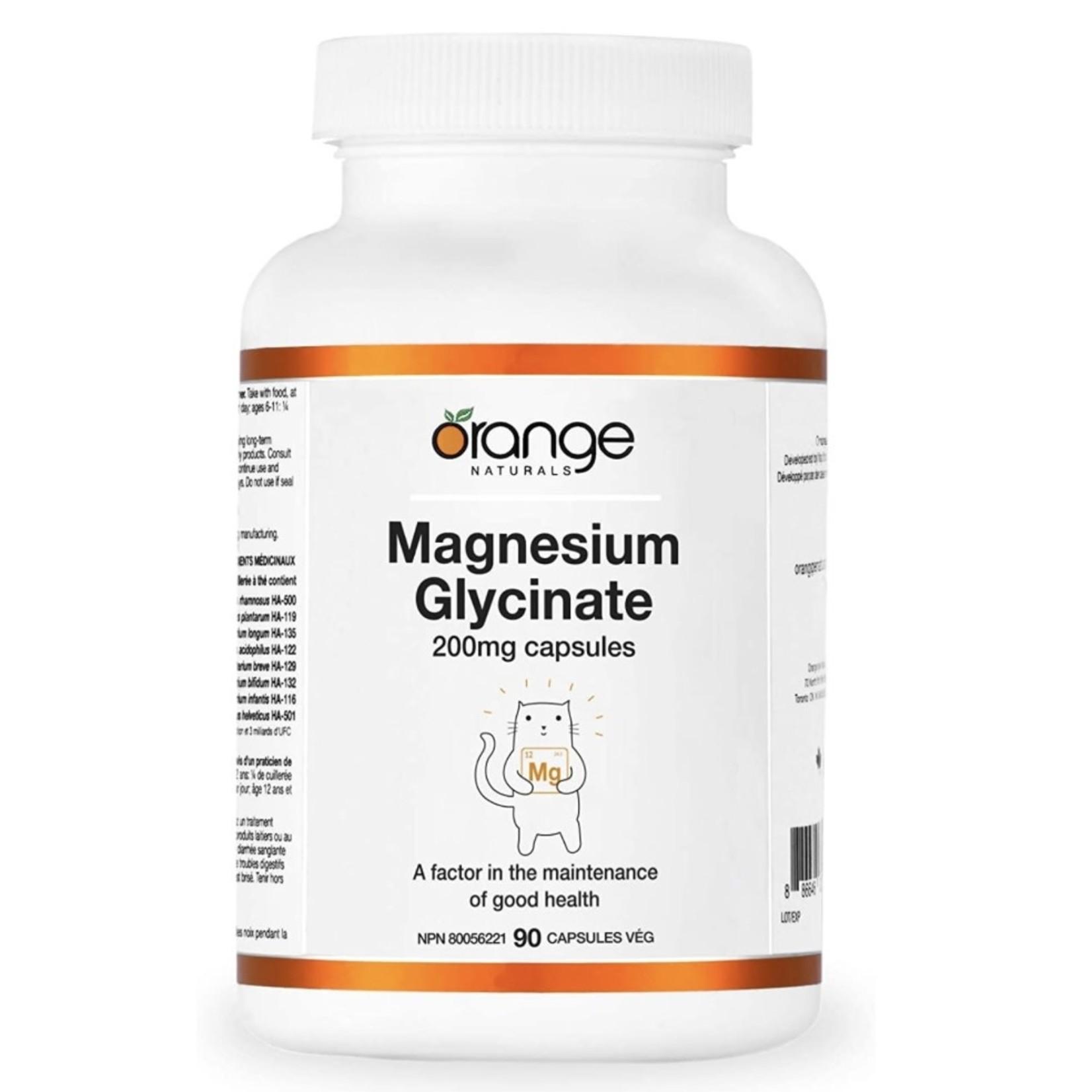 Orange Naturals Orange Naturals Magnesium Glycinate 200mg 90 caps