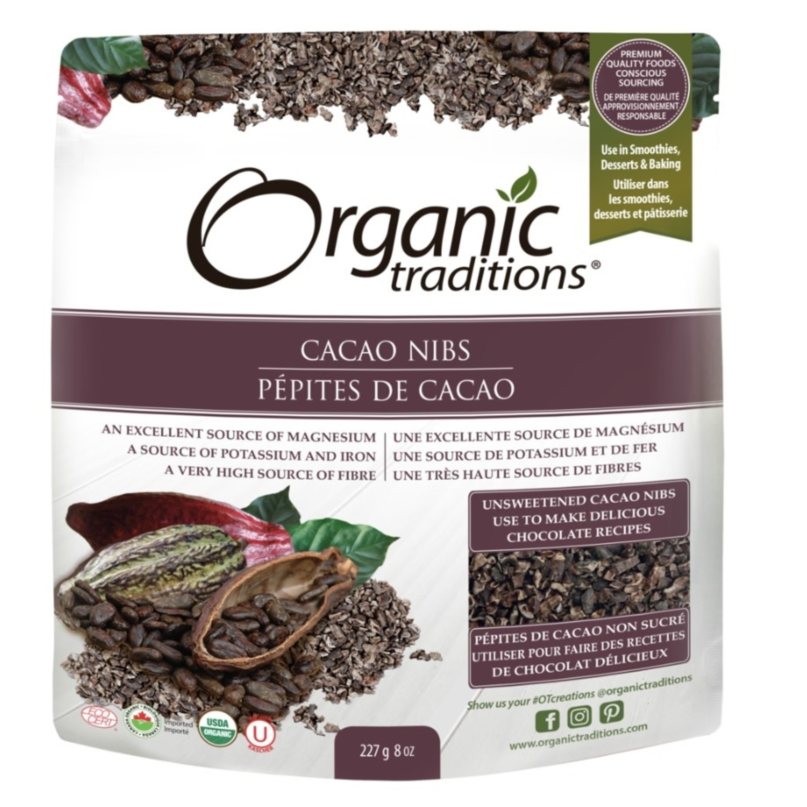 Organic Traditions Organic Traditions Cacao Nibs 227g