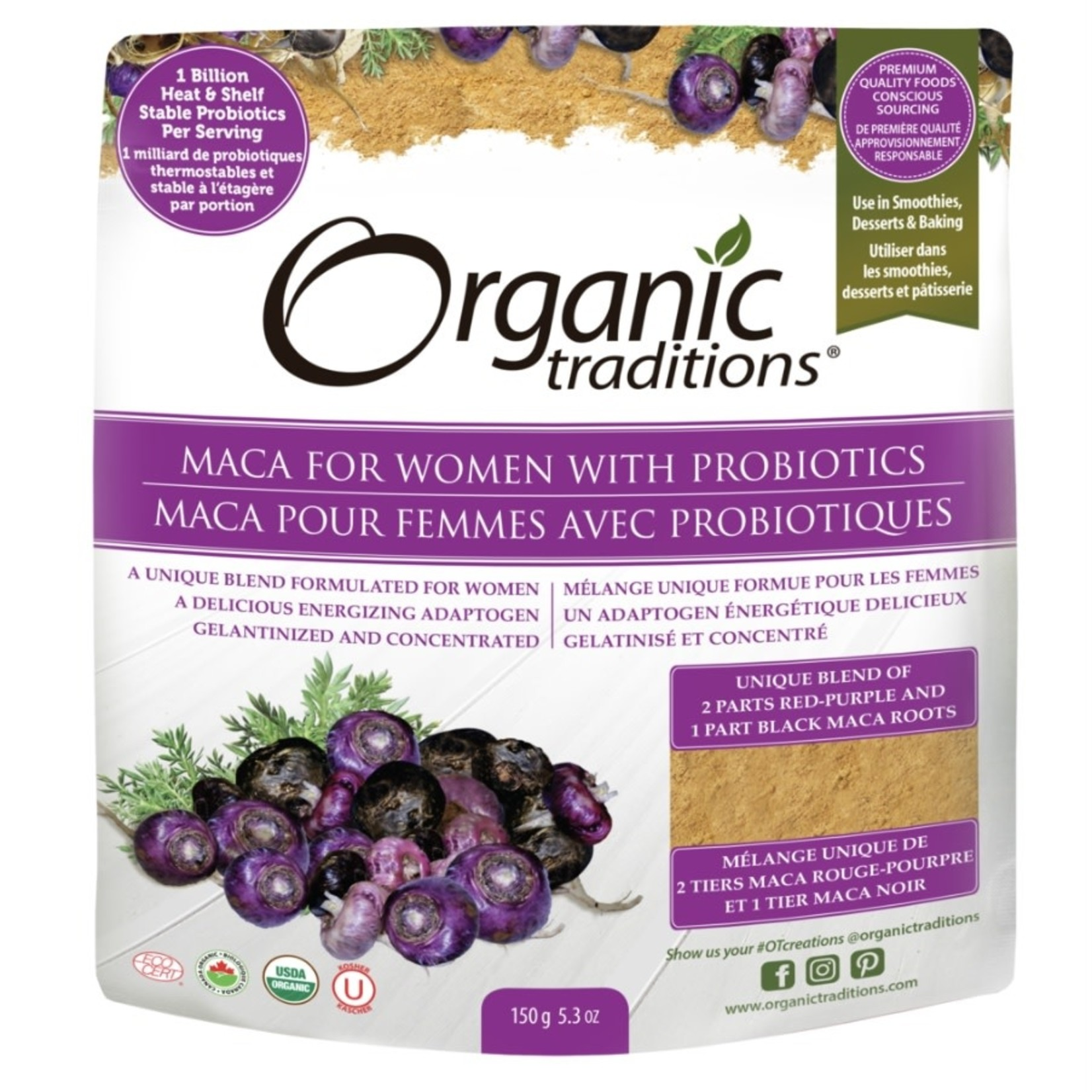 Organic Traditions Organic Traditions Maca For Women With Probiotic