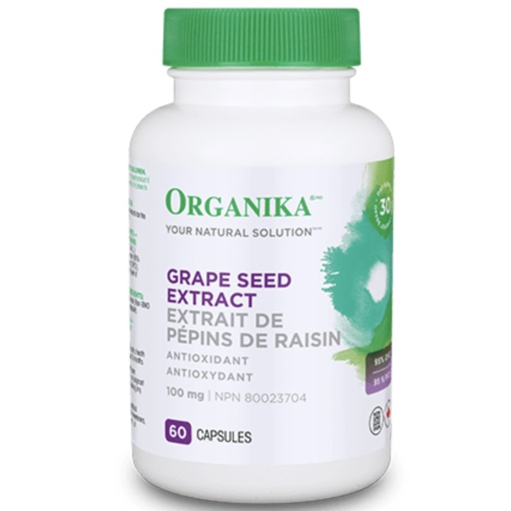 Organika Organika Grape Seed Extract 100mg 60 caps