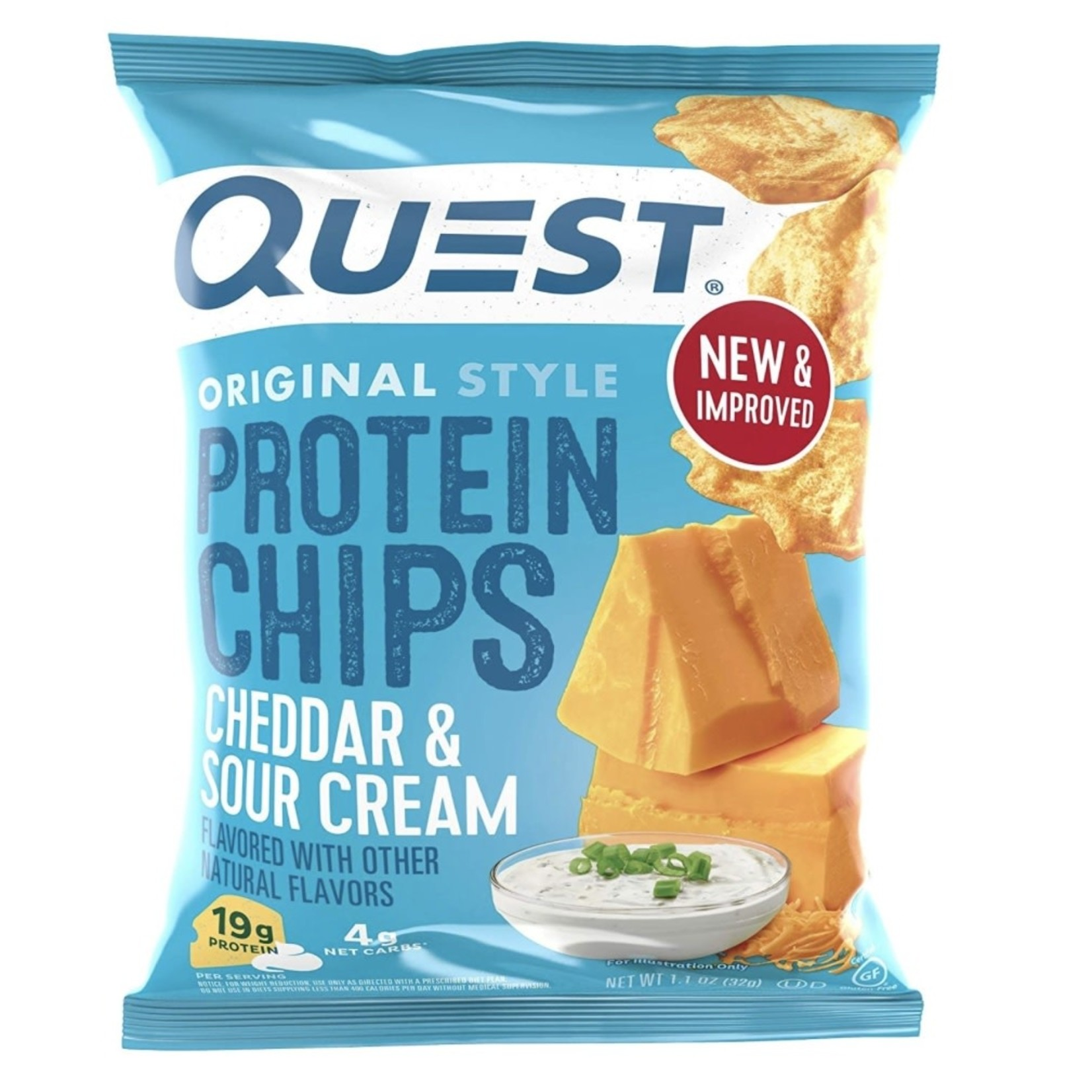Quest Quest Cheddar & Sour Cream Chips 32g