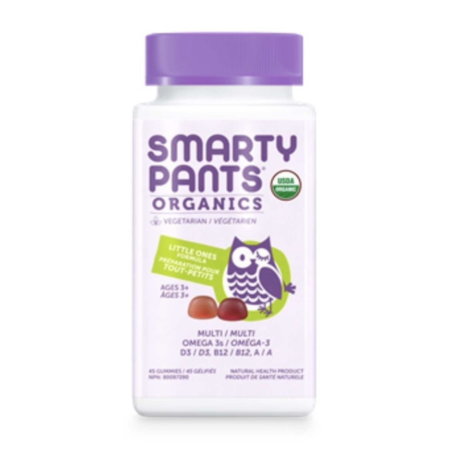 Smarty Pants Smarty Pants Organics Little Ones Formula 45 gummies