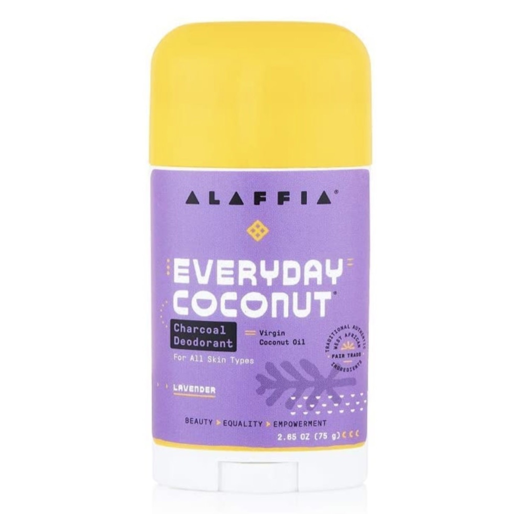 Alaffia Alaffia Coconut Charcoal Lavender Deodorant