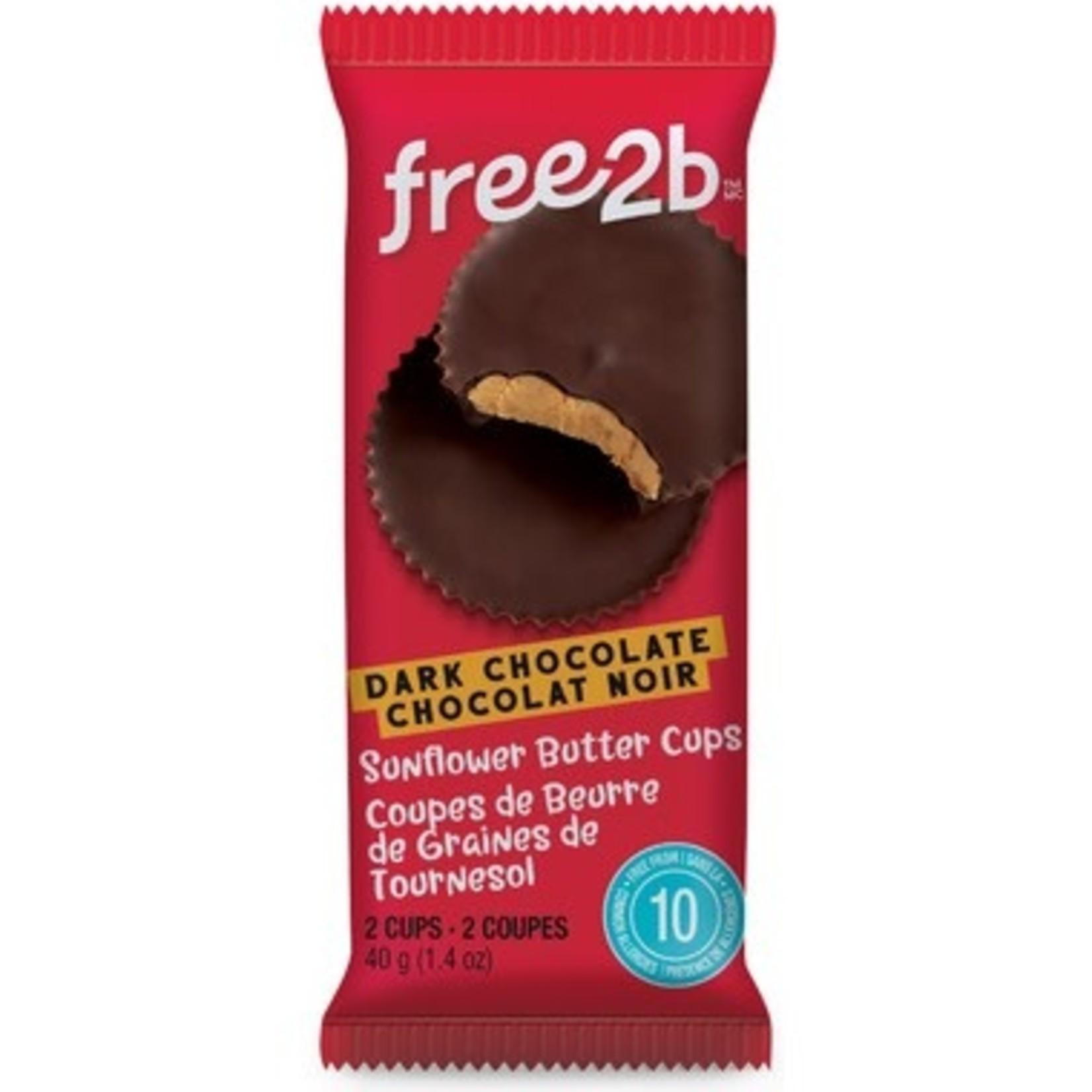 Free2B Free2B Dark Chocolate Sunflower Butter Cups